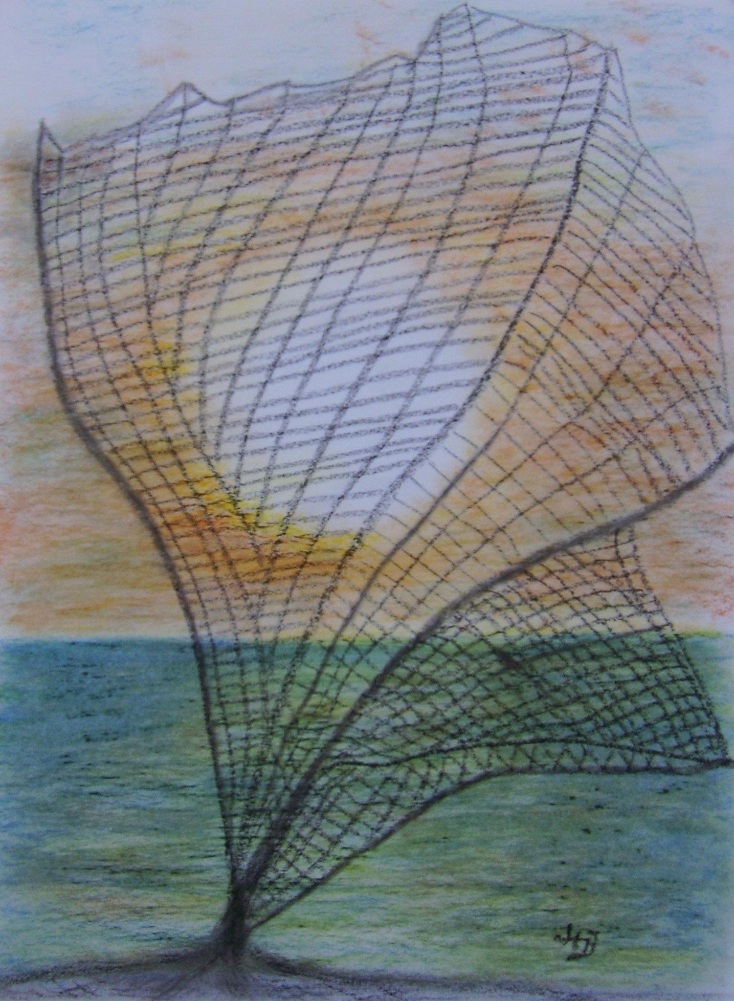 Abendstimmung, 2005, Pastellkreide, 30 x 40 cm