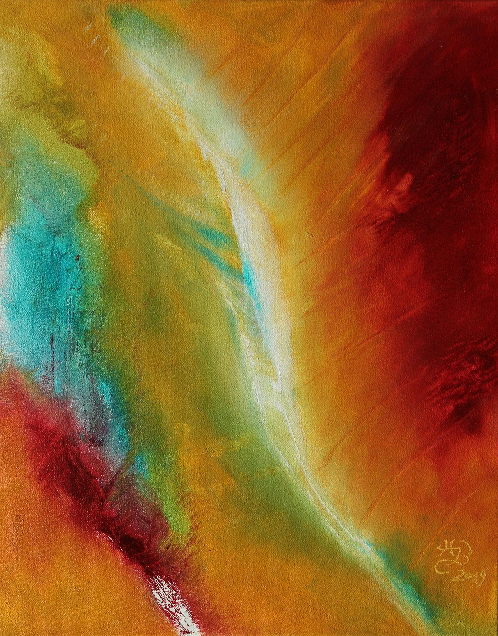 Lebensenergie, 2019, Öl, 40 x 50 cm