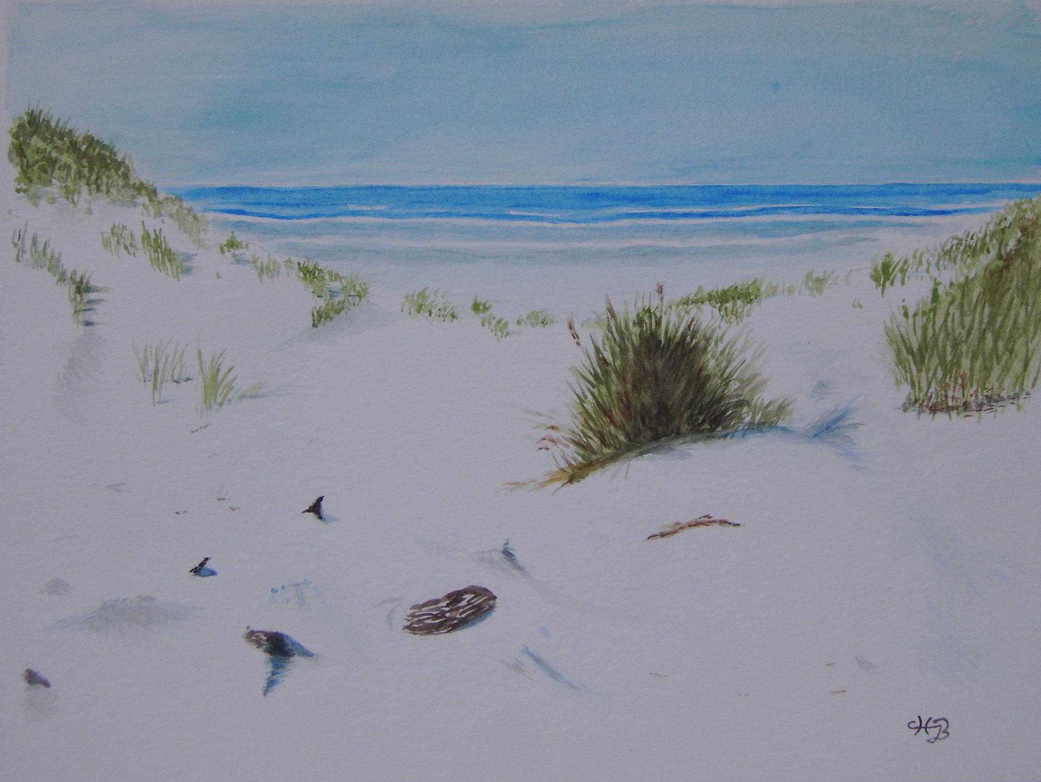 Strandszene 2, 2006, Aquarell, 32 x 23,5 cm