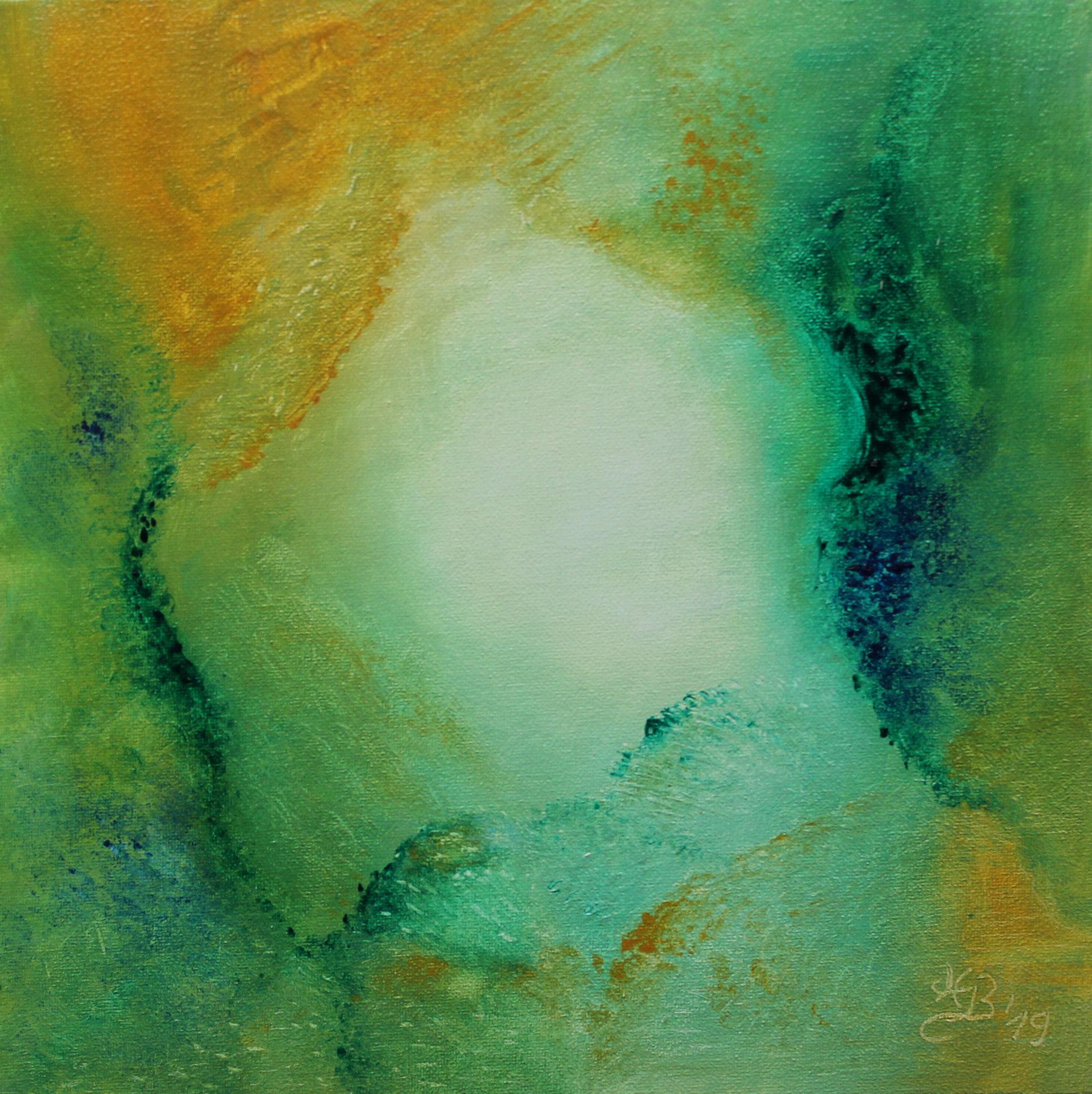 Inneres Licht I, 2019, Öl, 30 x 30 cm