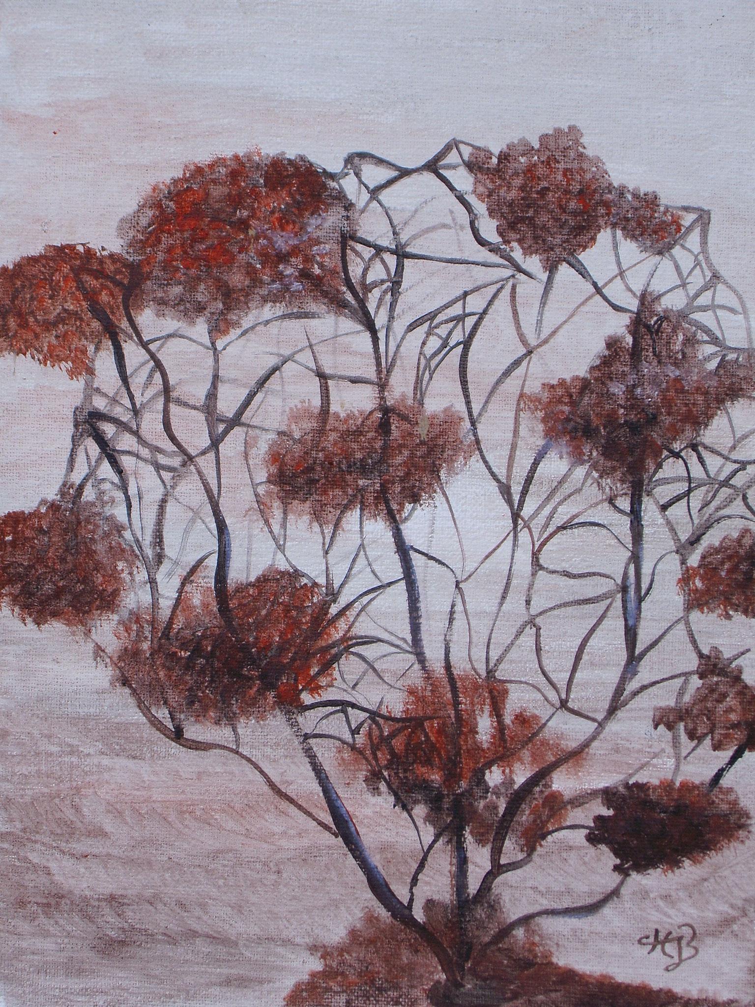 Strandbusch, 2006, Acryl, 18 x 24 cm