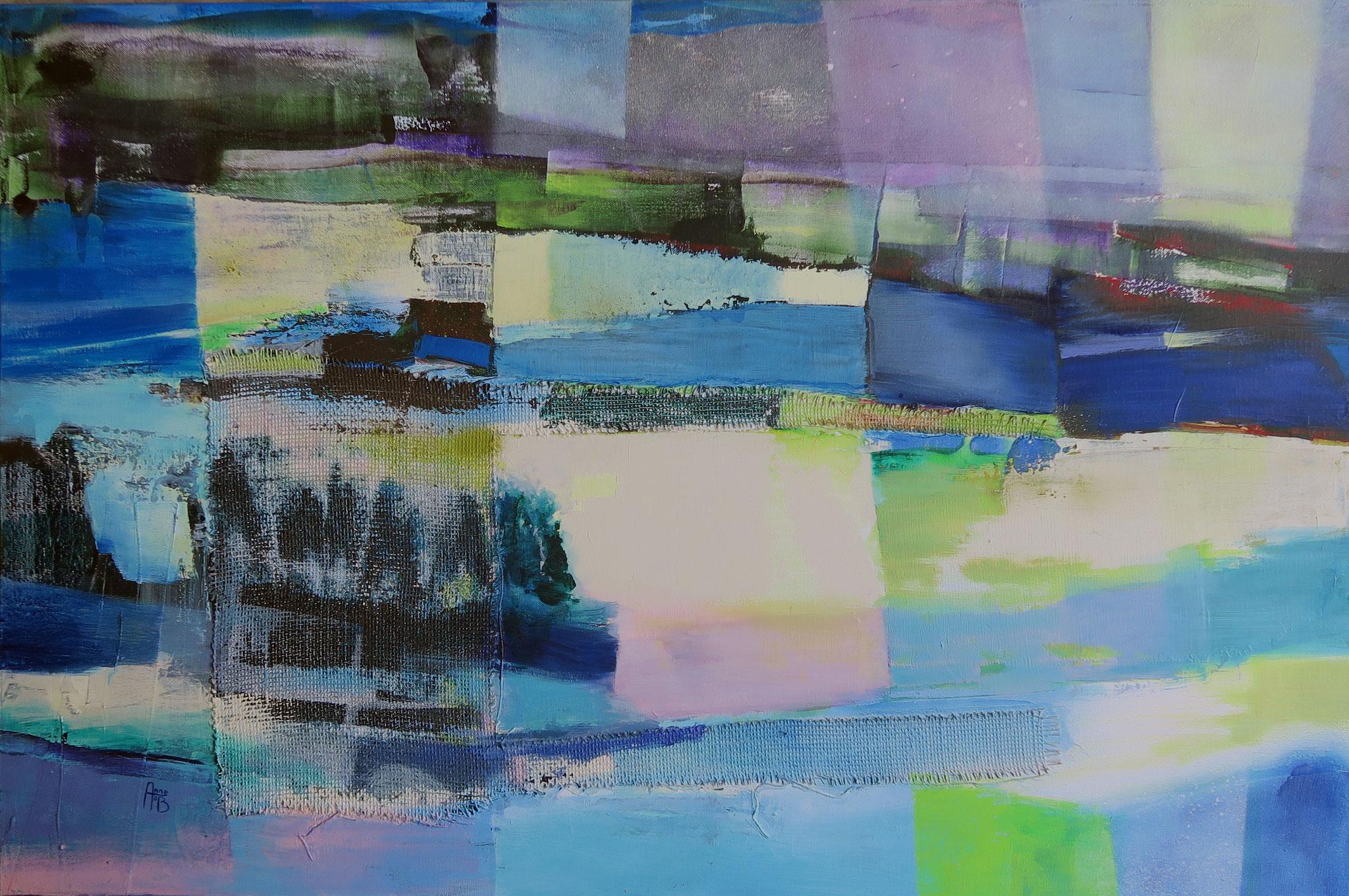 Lueurs, 80x120cm, acrylique, 2017