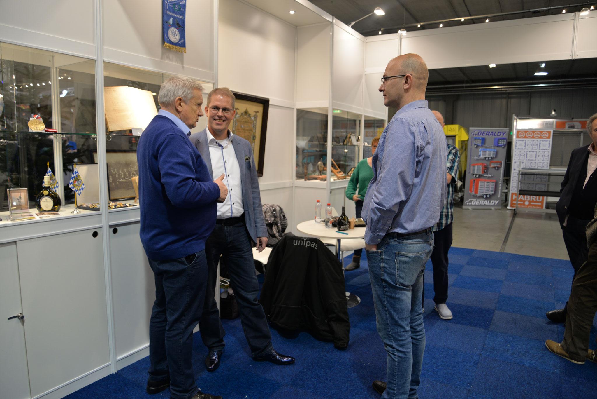 Michael Mahr und Gerwin Basch im Gespräch mit dem holländischen Präsidenten.