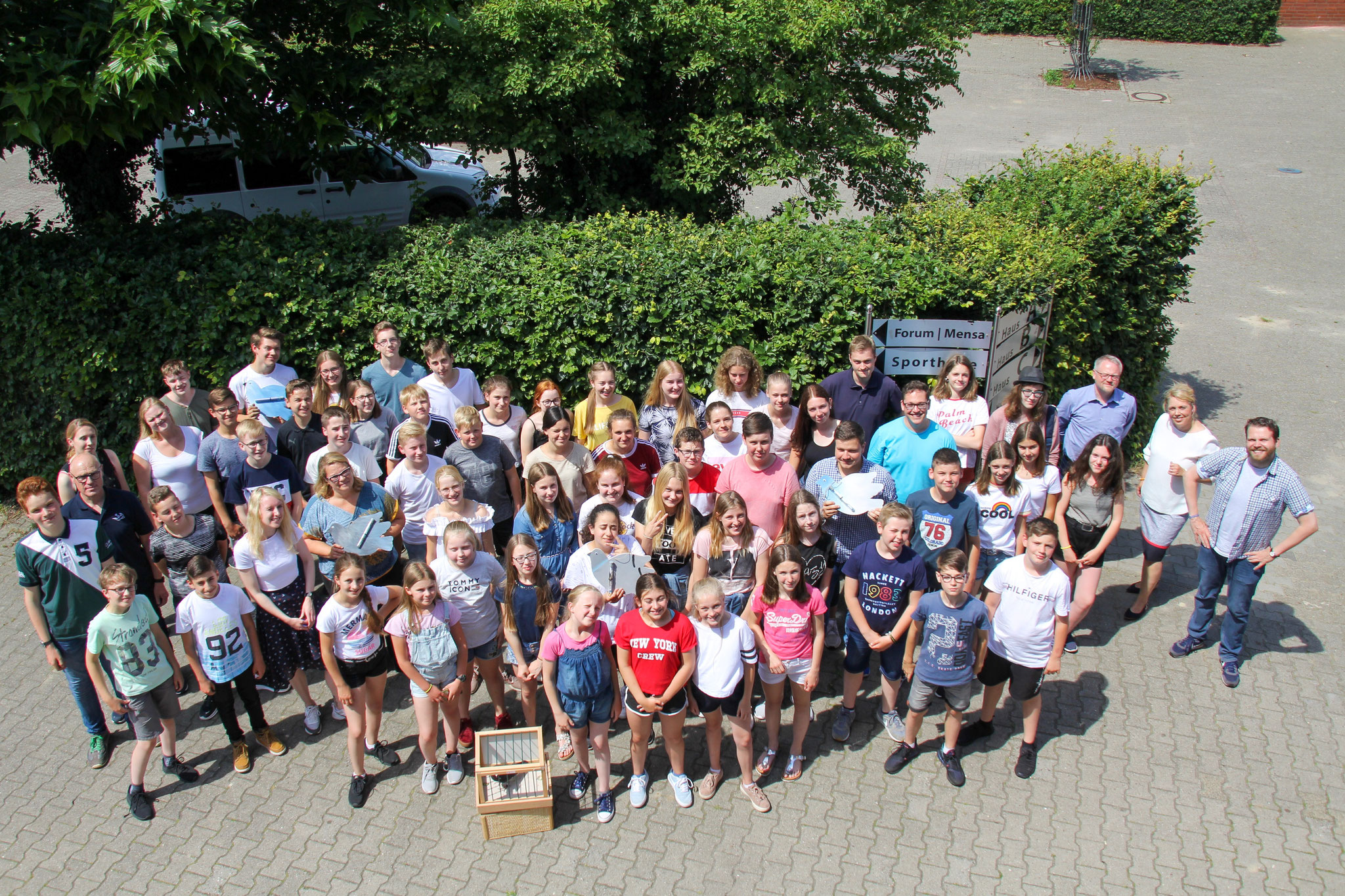 Gruppenfoto der Teilnehmenden am Projekttag