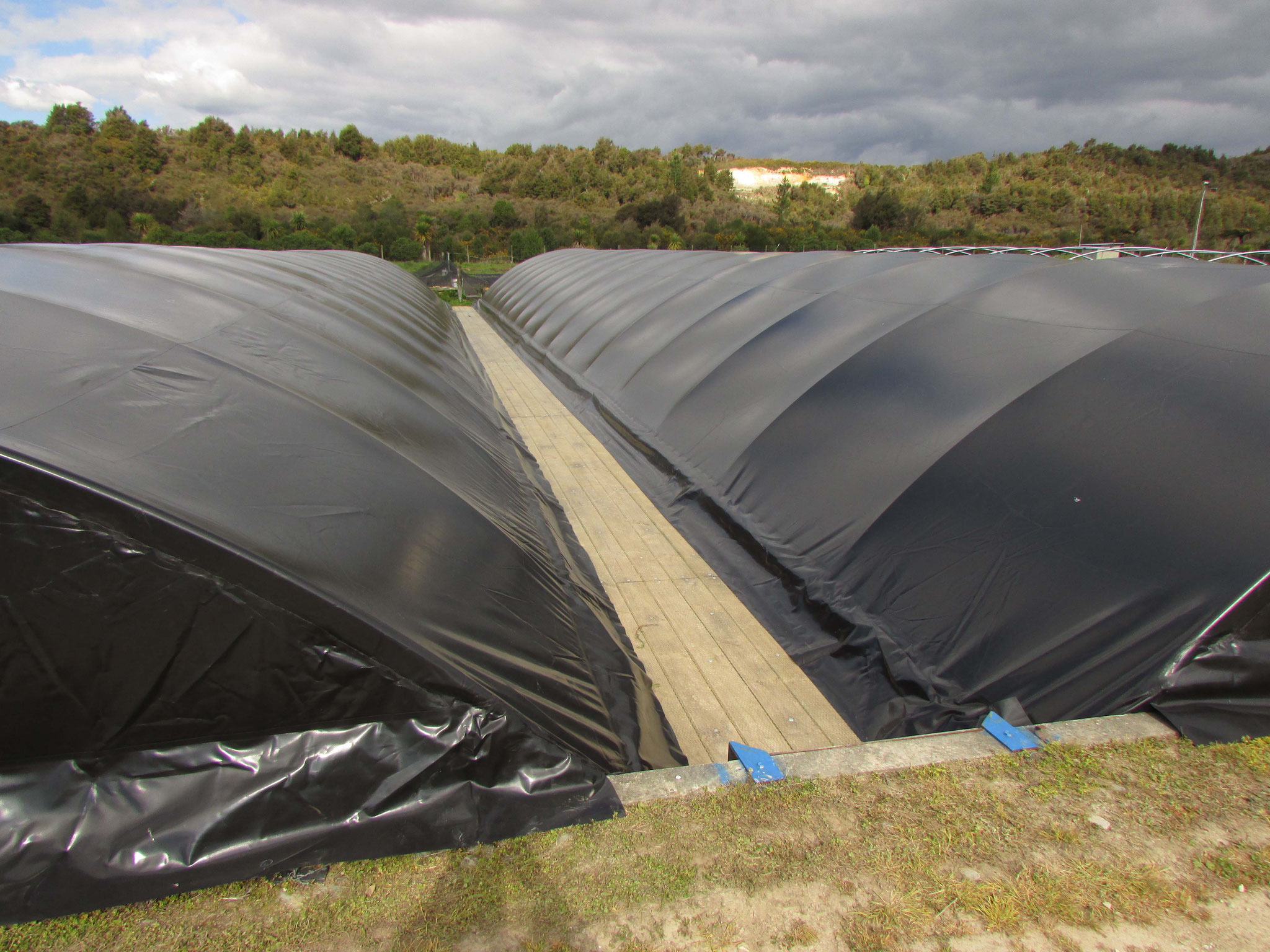 Aquaculture Pond Covers, Takaka, NZ