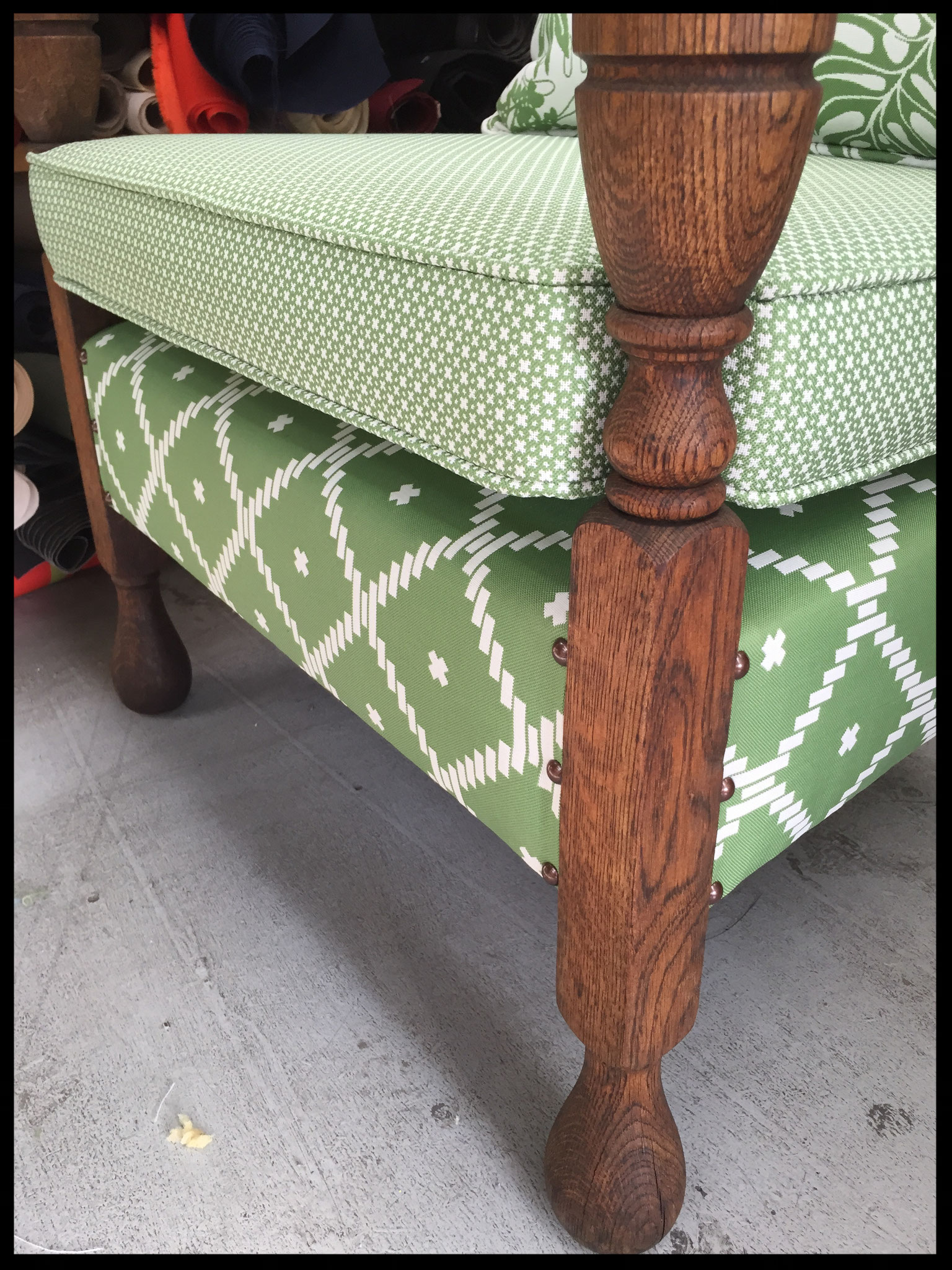 Outdoor Fabric on a Vintage Chair