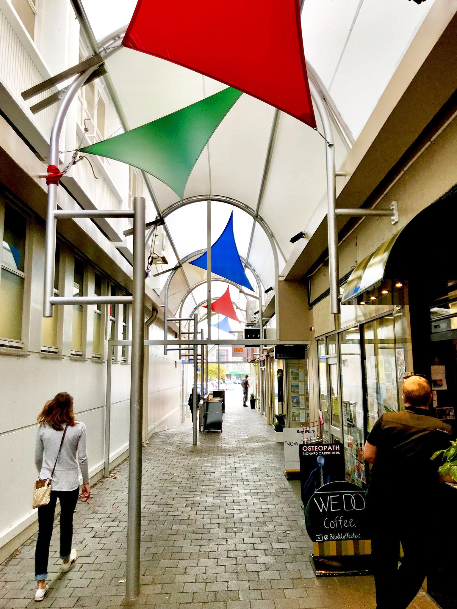 Bank Lane International Design Award winning PVC canopy