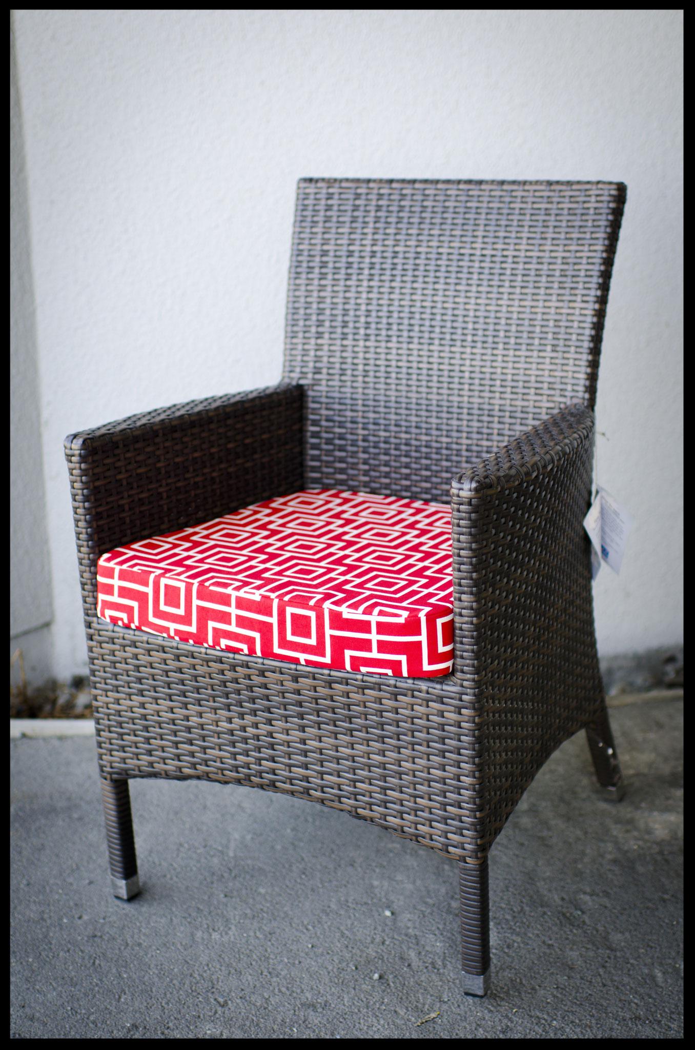 Outdoor squab - Warwick fabric