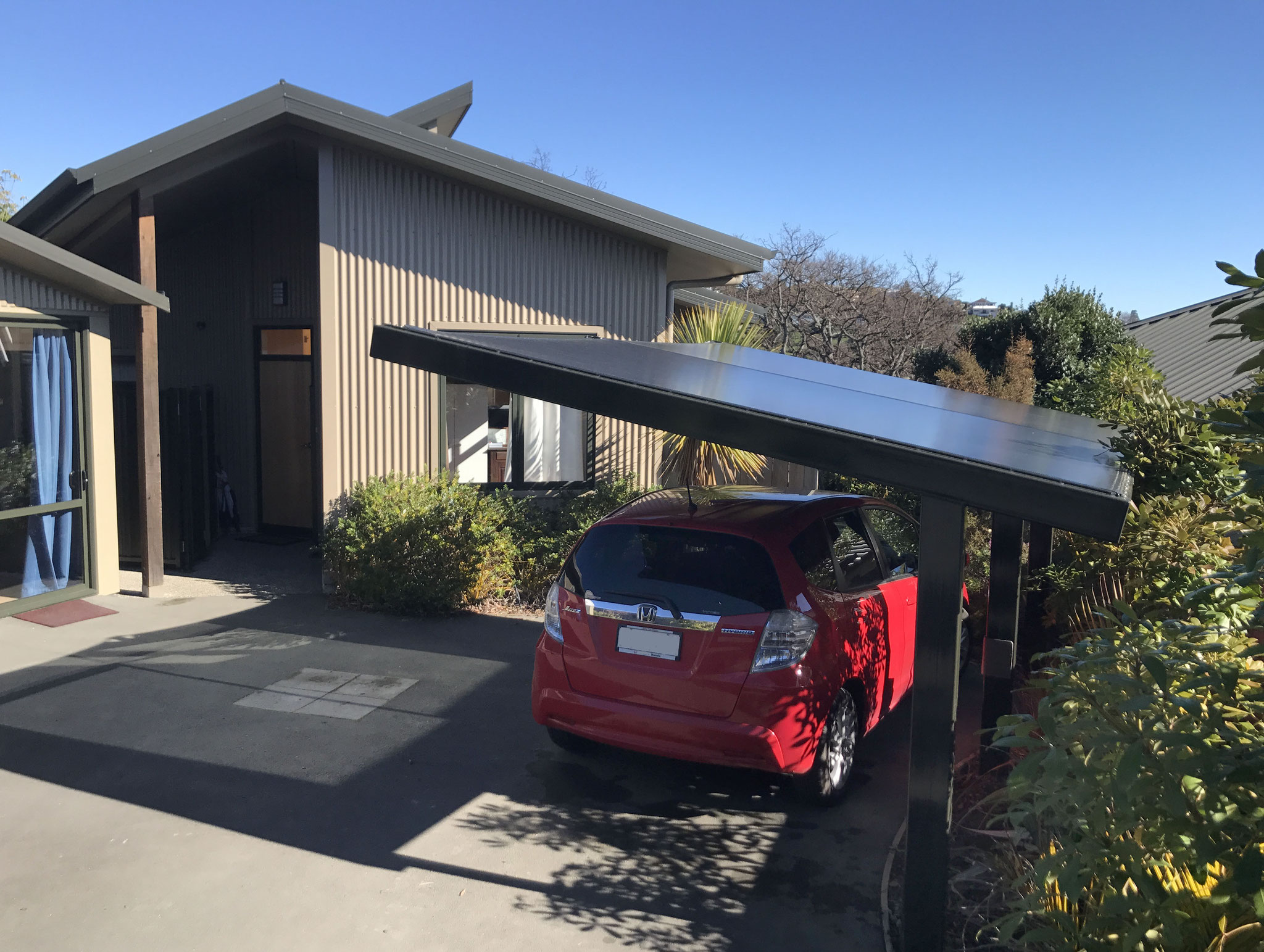 PVC Cantilevered Carport, Nelson