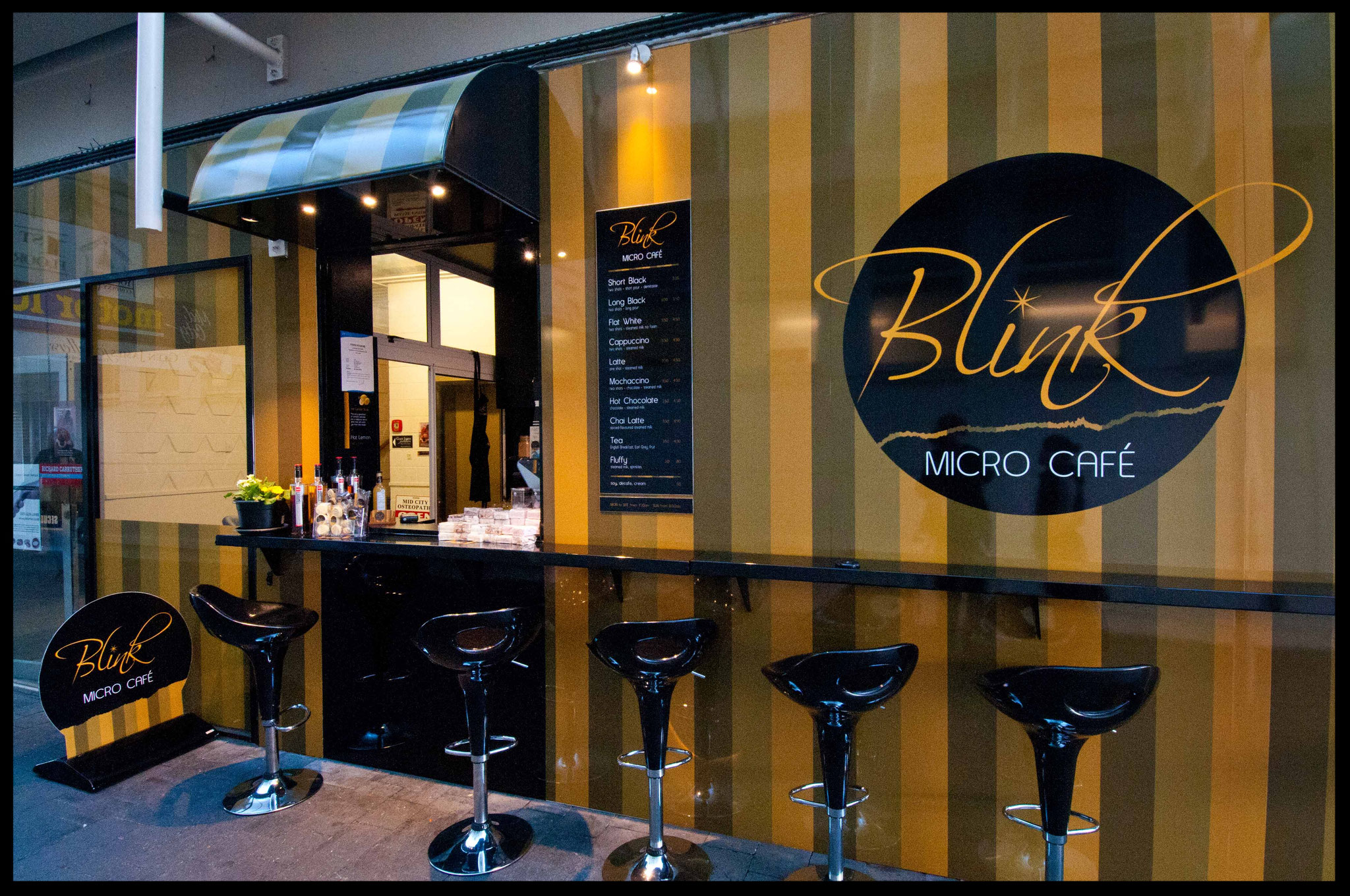Blink Cafe Awning, Nelson CBD