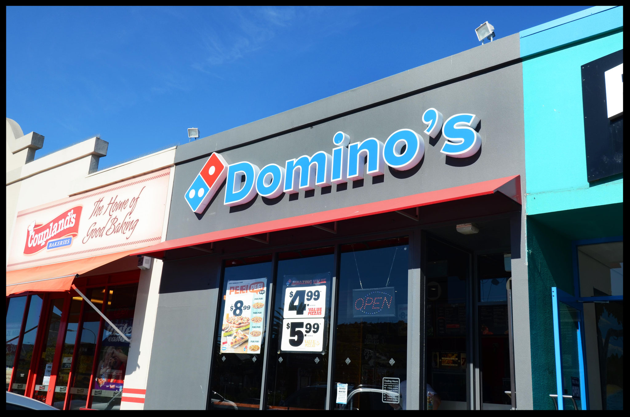 Domino's Pizza Awning, Nelson CBD