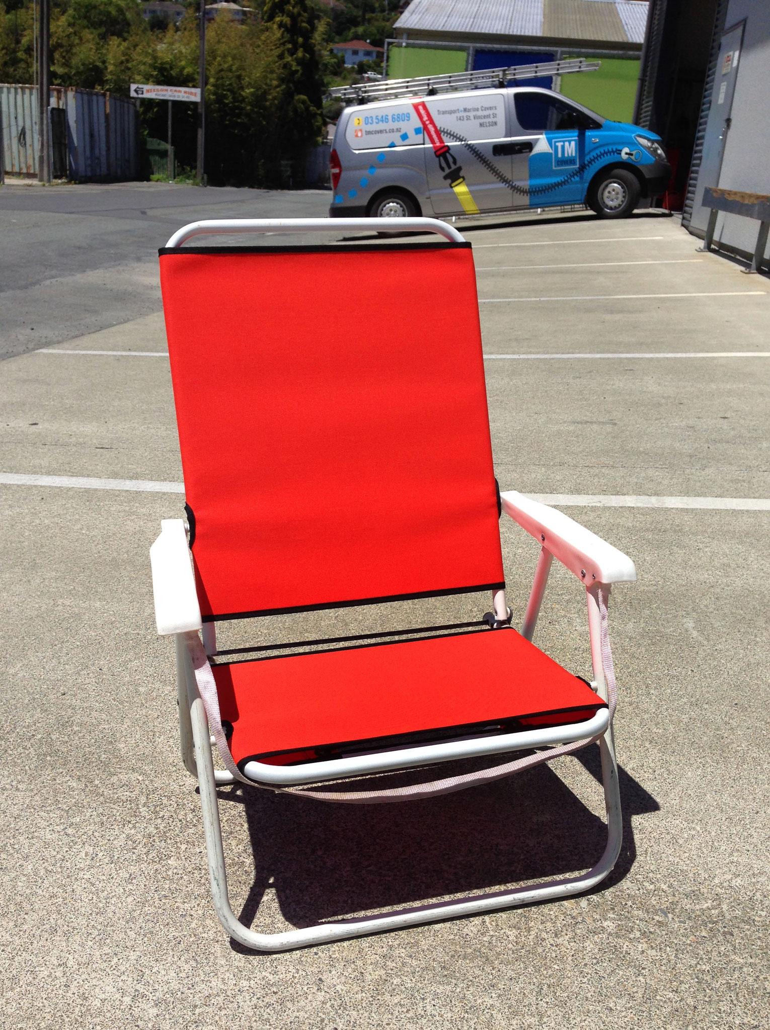 Outdoor canvas chair