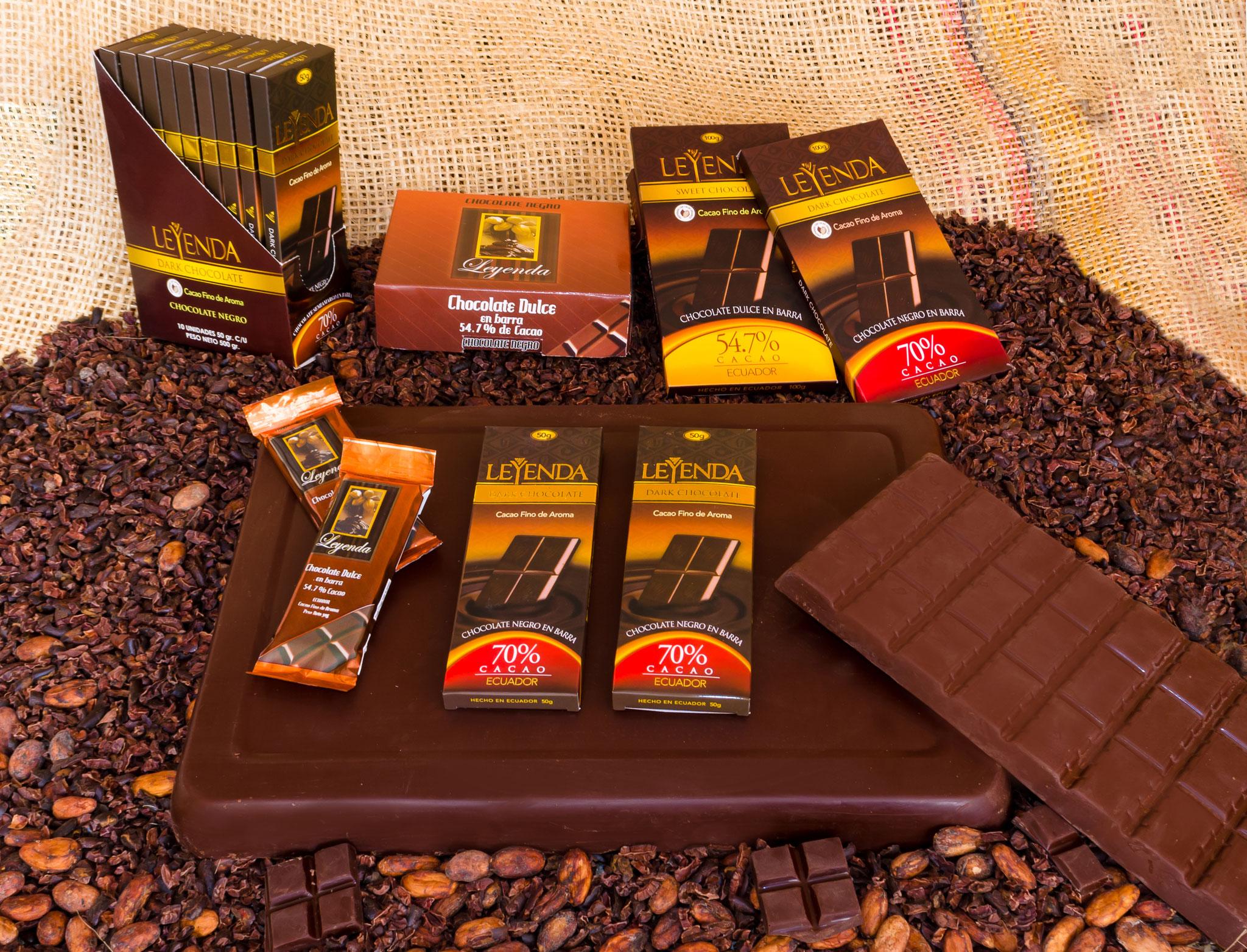 Hechos con Cacao Nacional Fino de Aroma