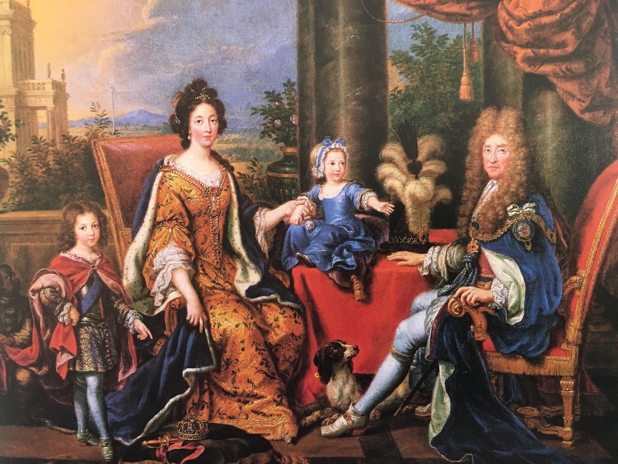 Le Roi Jacques II et sa famille en exil