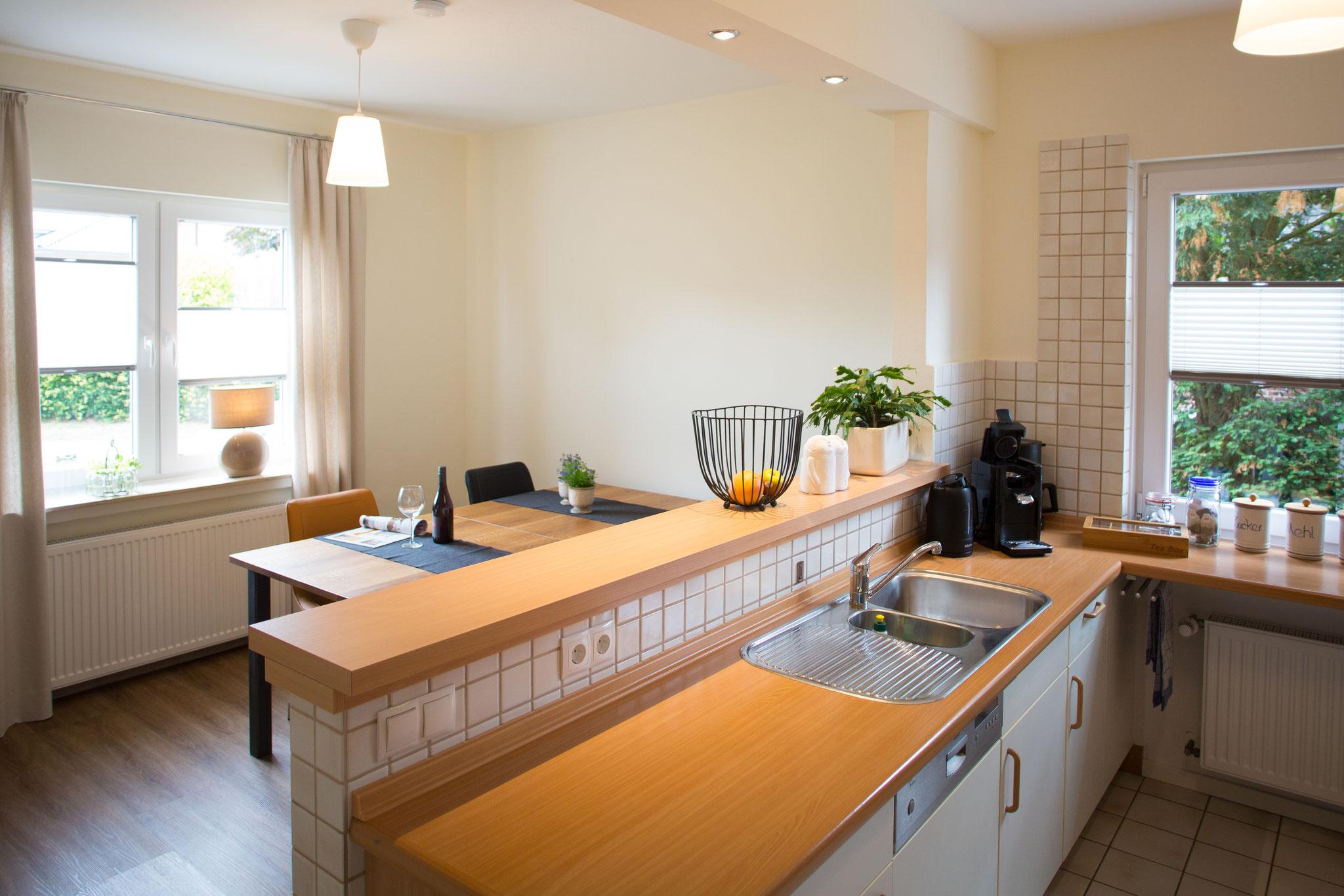 Küche mit Blick ins Eszimmer