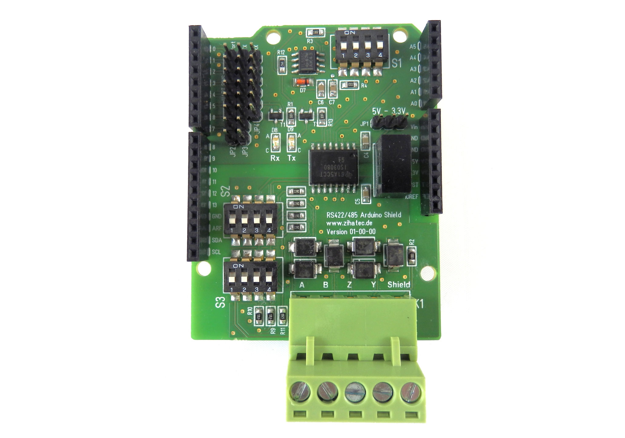 RS422 / RS485 Shield  top view