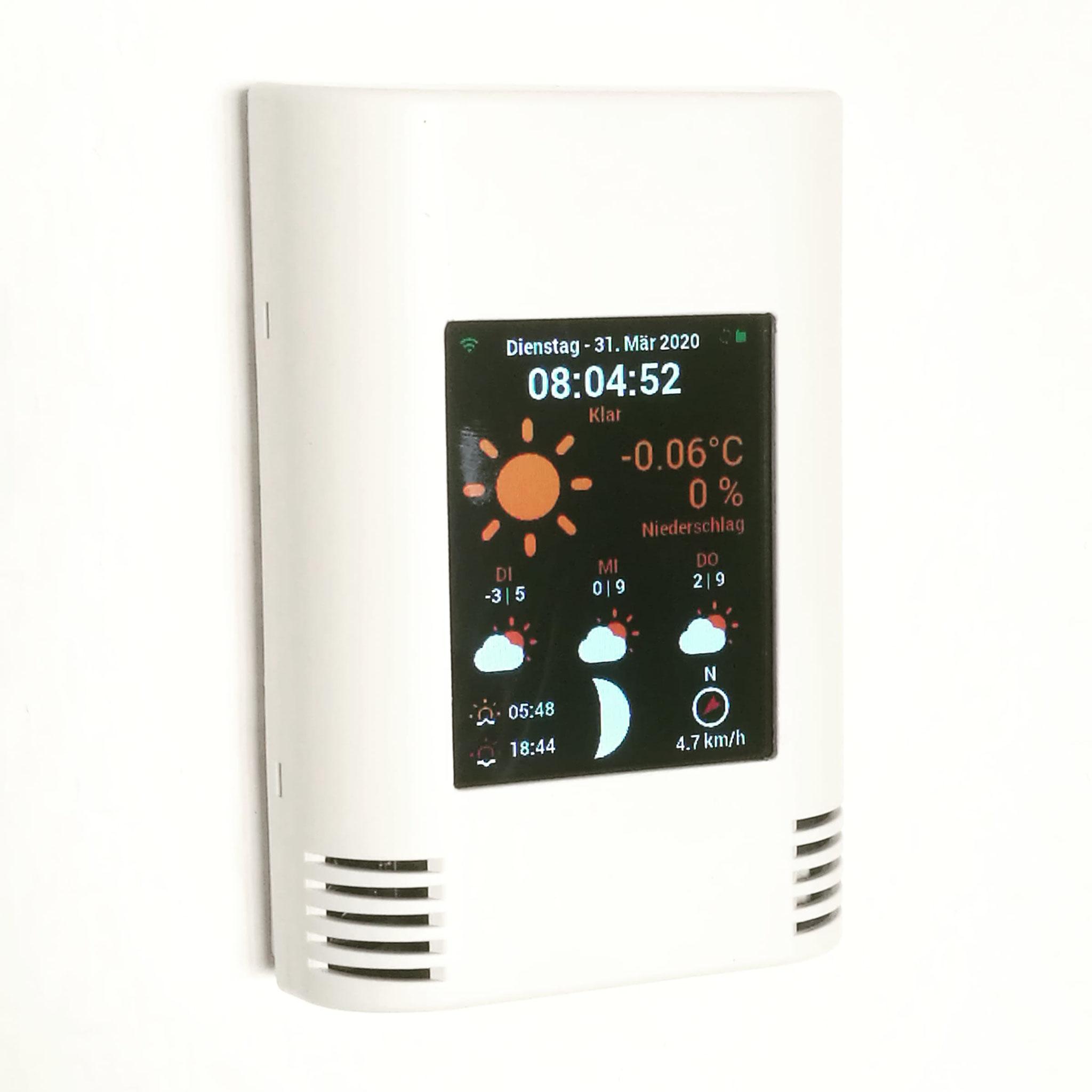 AZ-Touch Pi0 mit Software Wetterstation