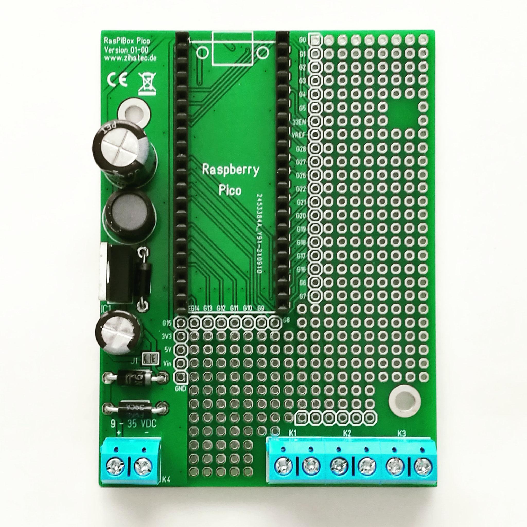 Assembled RasPiBox Pico PCB