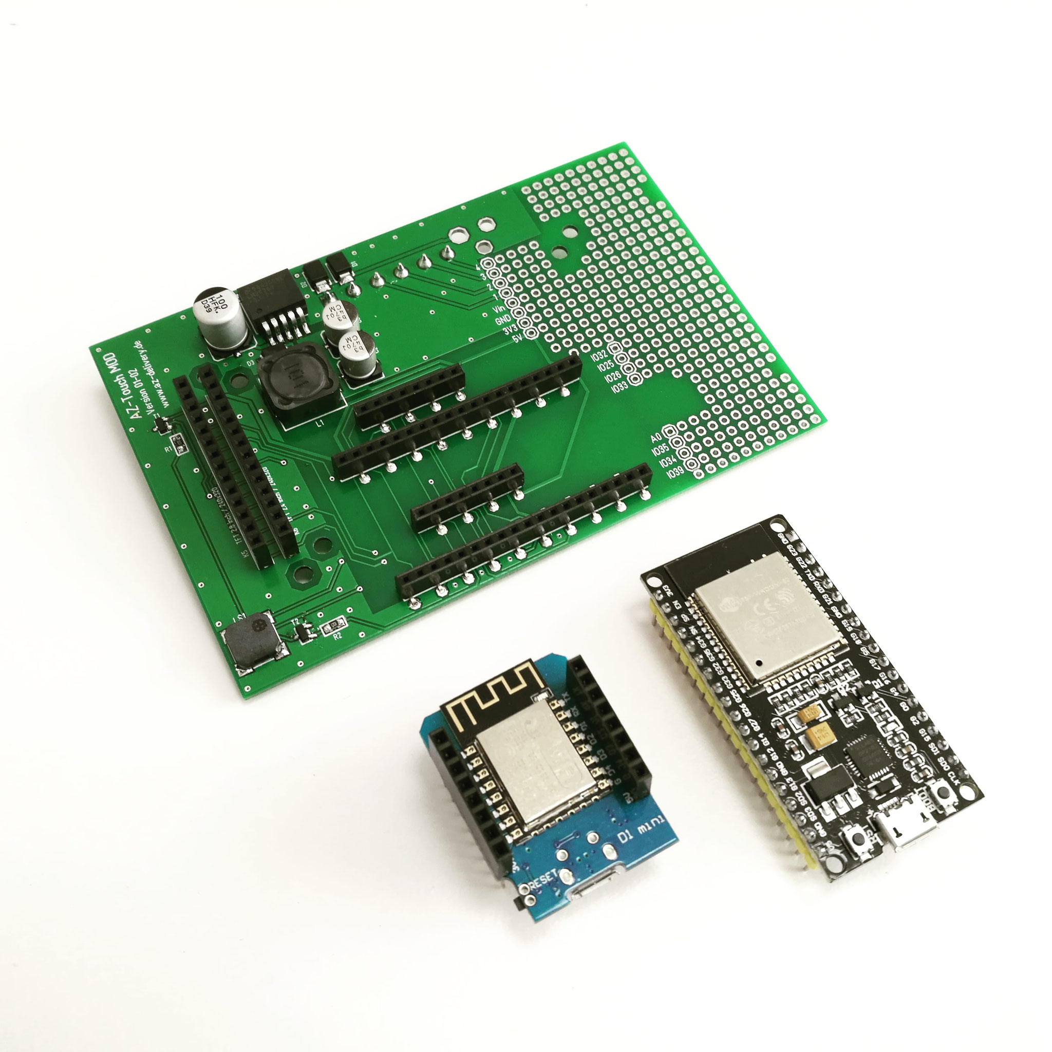 AZ-Touch pcb with  compatible ESP8266 and ESP32 modules