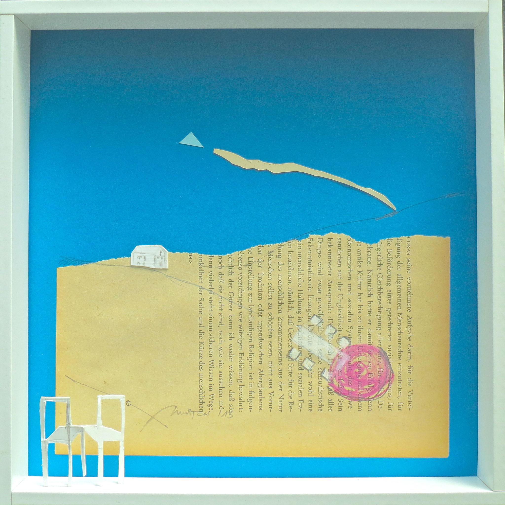 Heimatzyklus: Omis Gartenfest, Collage, 25x25cm, 2013