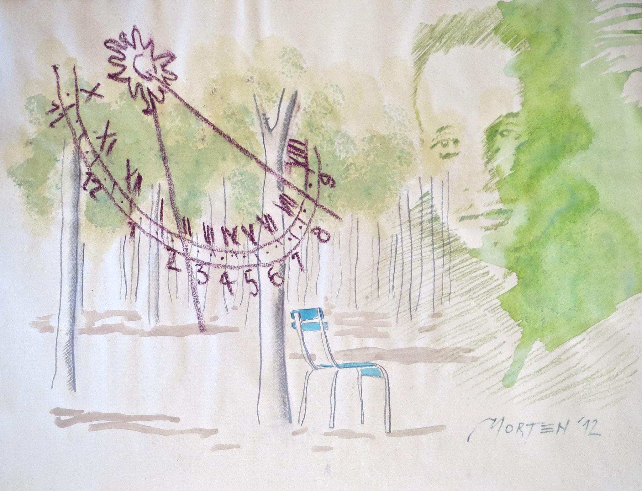 Rainer Maria Rilke: Jardin du Luxembourg, Zeichnung, 40x60cm, 2012