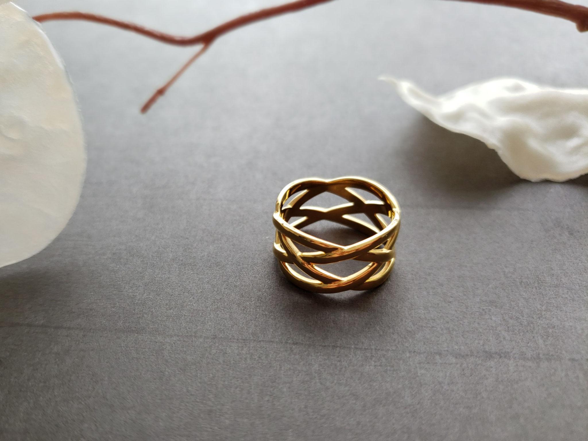 braided metal ring