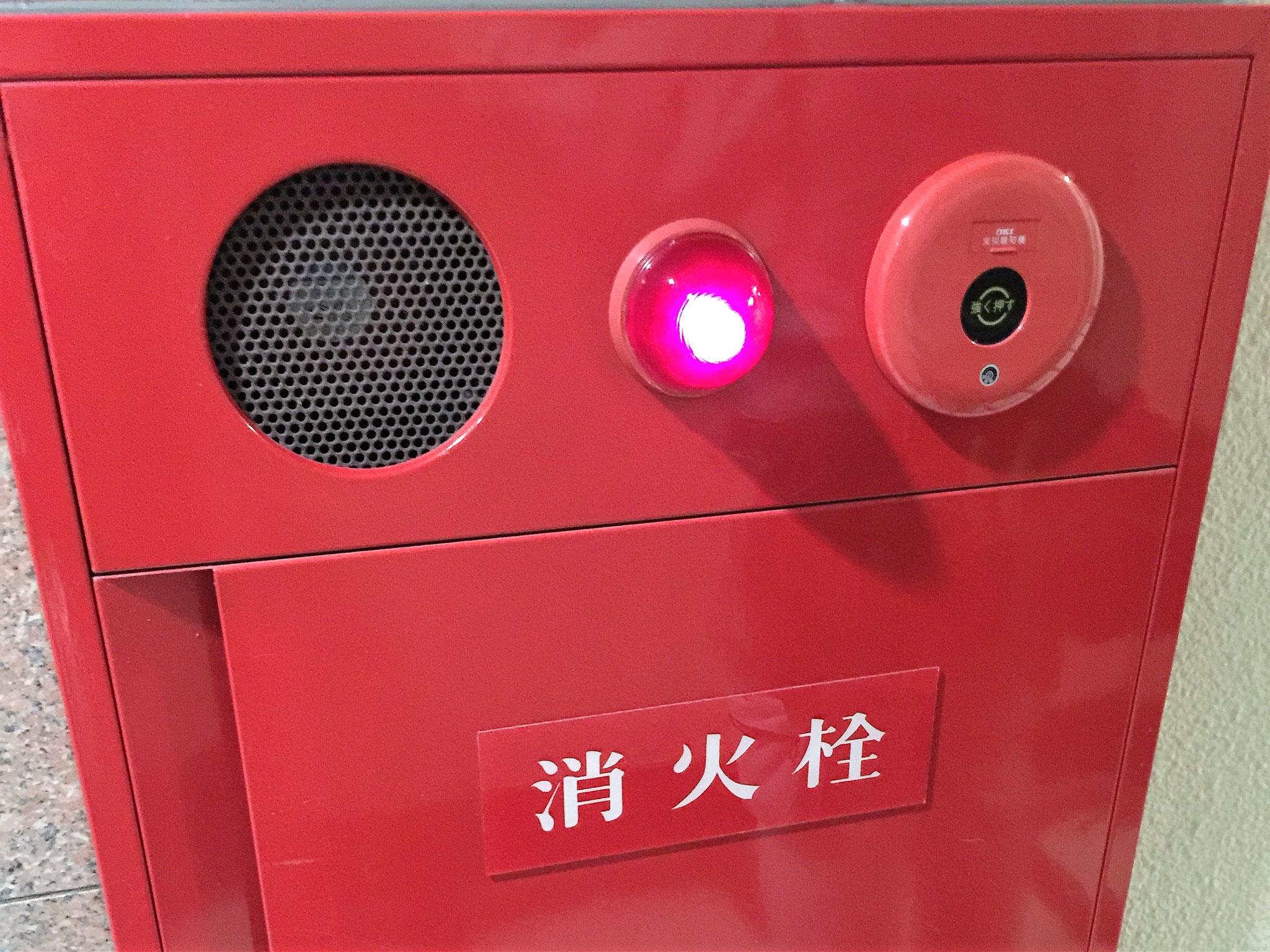 屋内・屋外消火栓の外観。