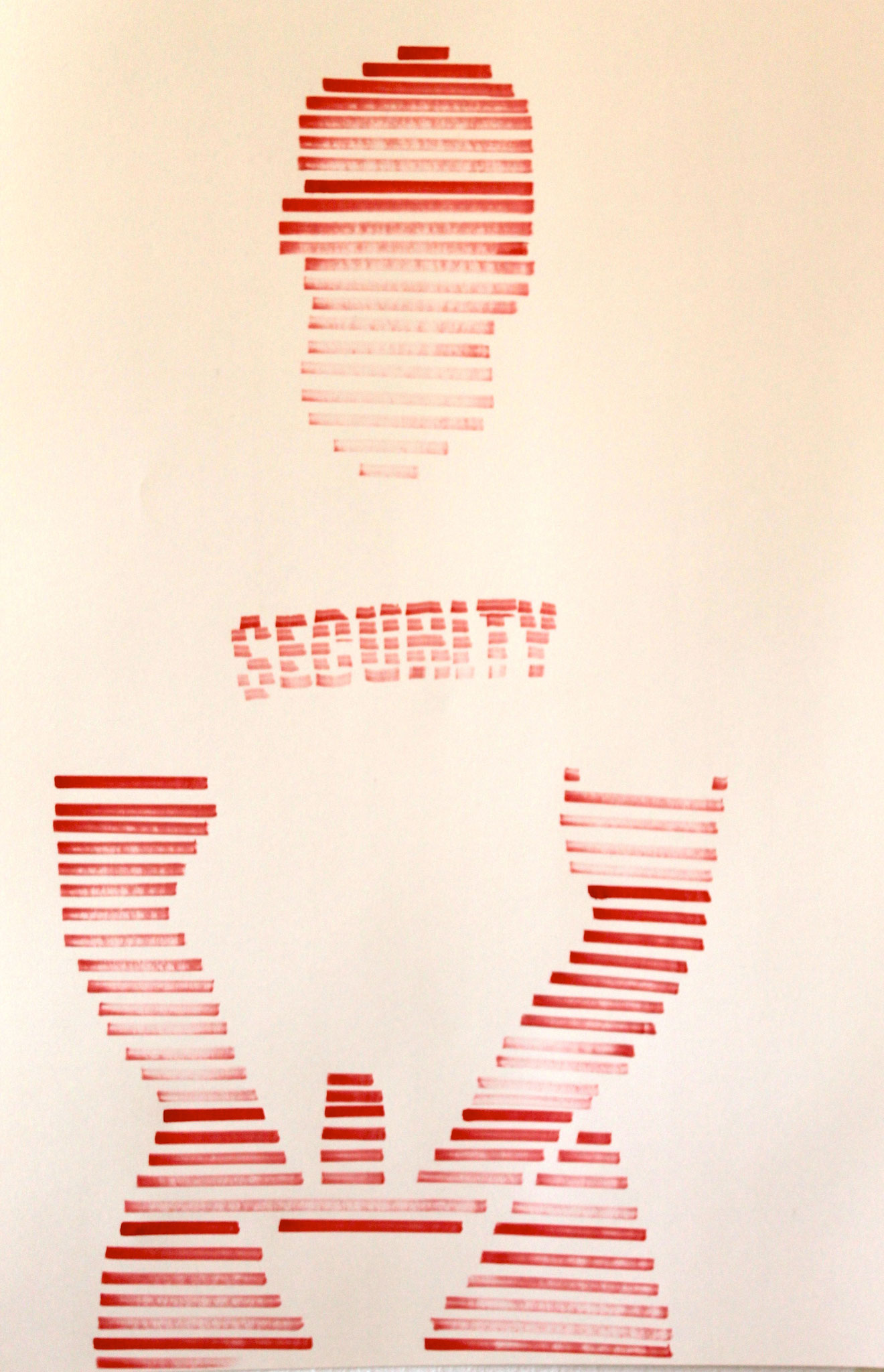 The Red Security, Ink On Paper, 70x100 cm, 2016