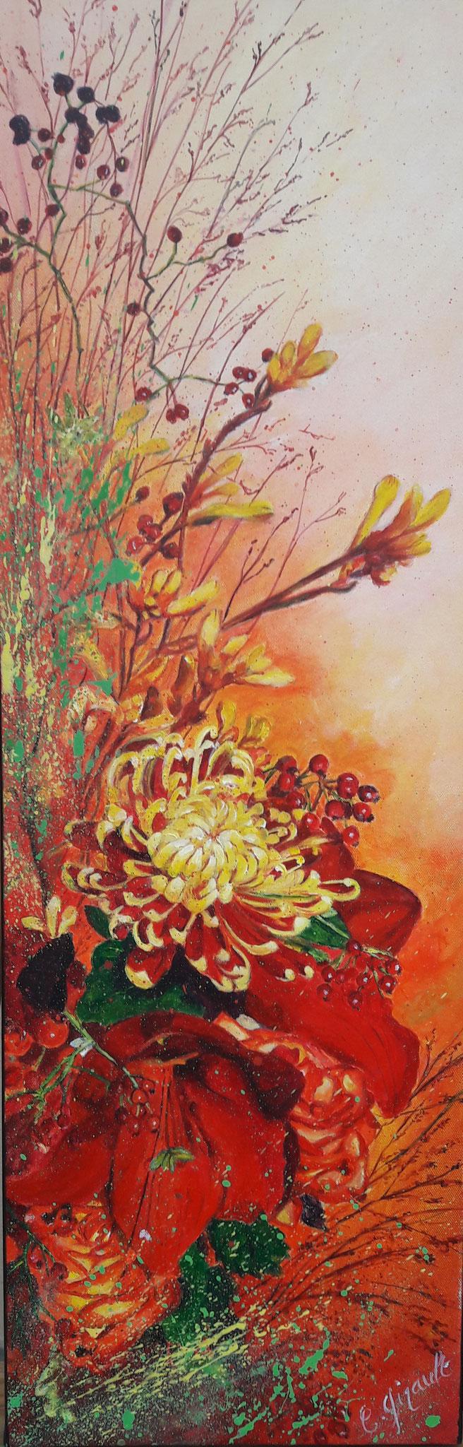 """""""Bouquet d'automne"""" acrylique de Christine GIRAULT"""