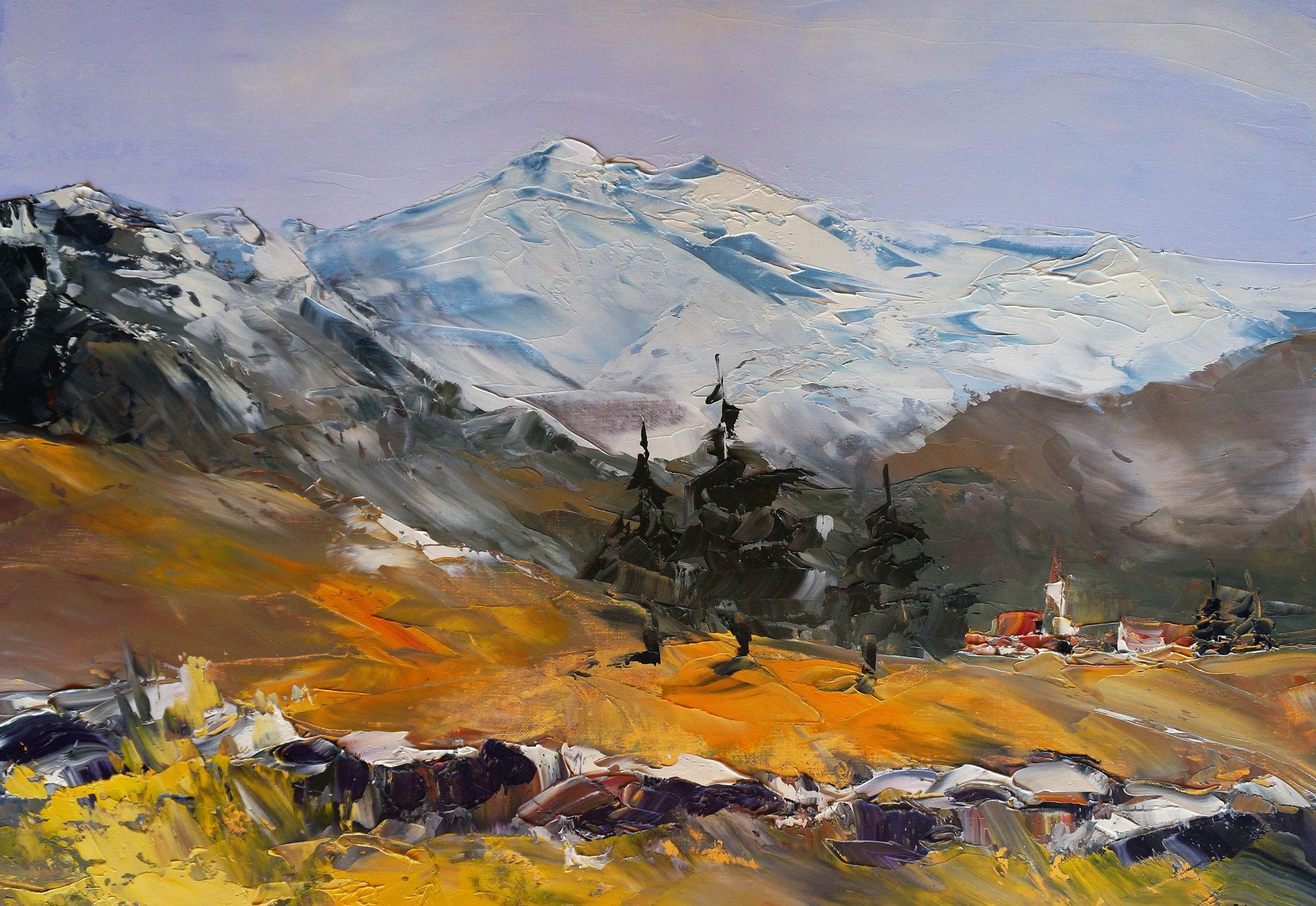 """François NUNEZ """"Montagne"""" huile"""