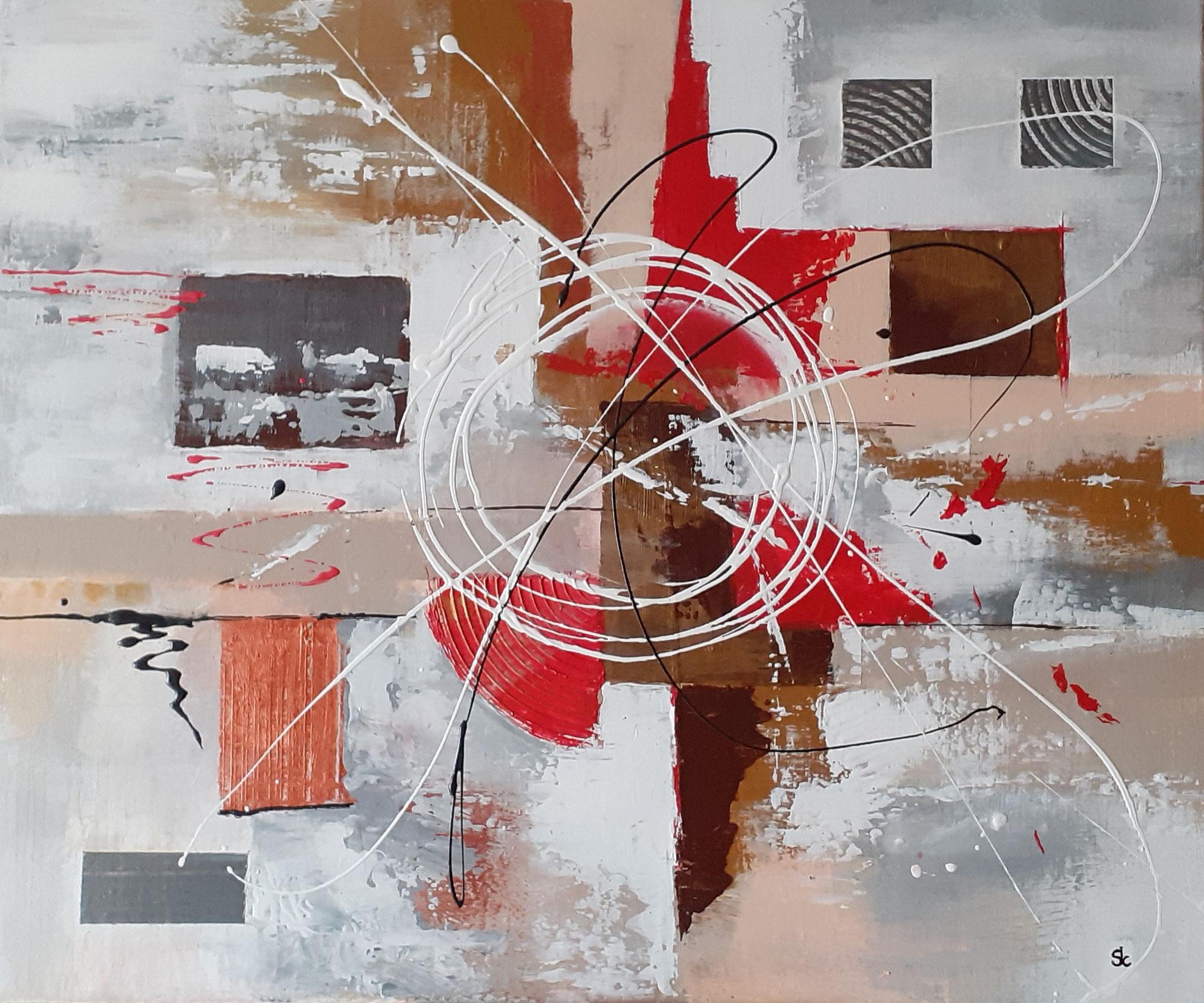 """Abstraction"" acrylique de Jean Claude SENOT"