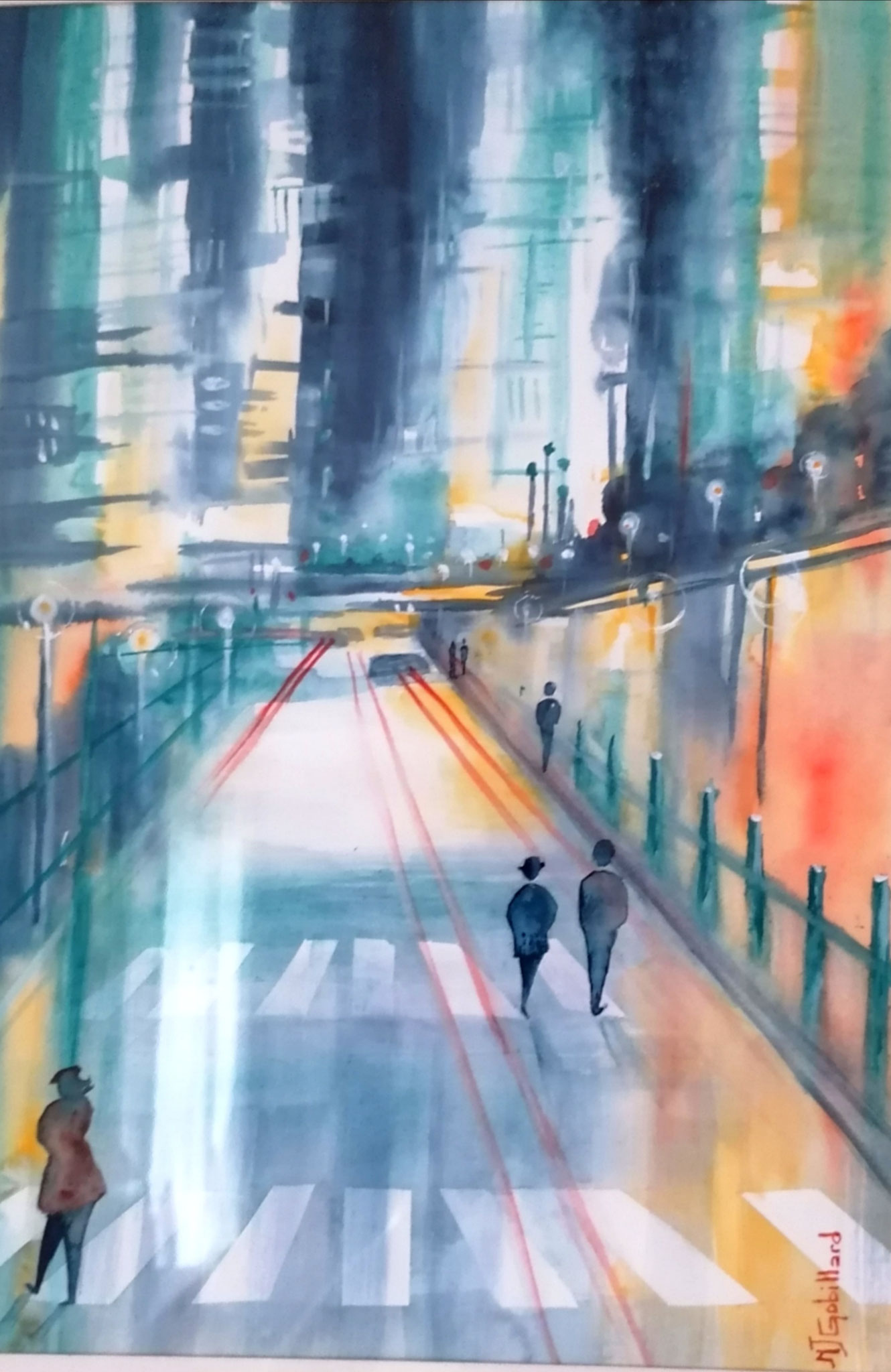 """""""Lumières sur la ville"""" Marie Jo GOBILLARD (aquarelle)"""