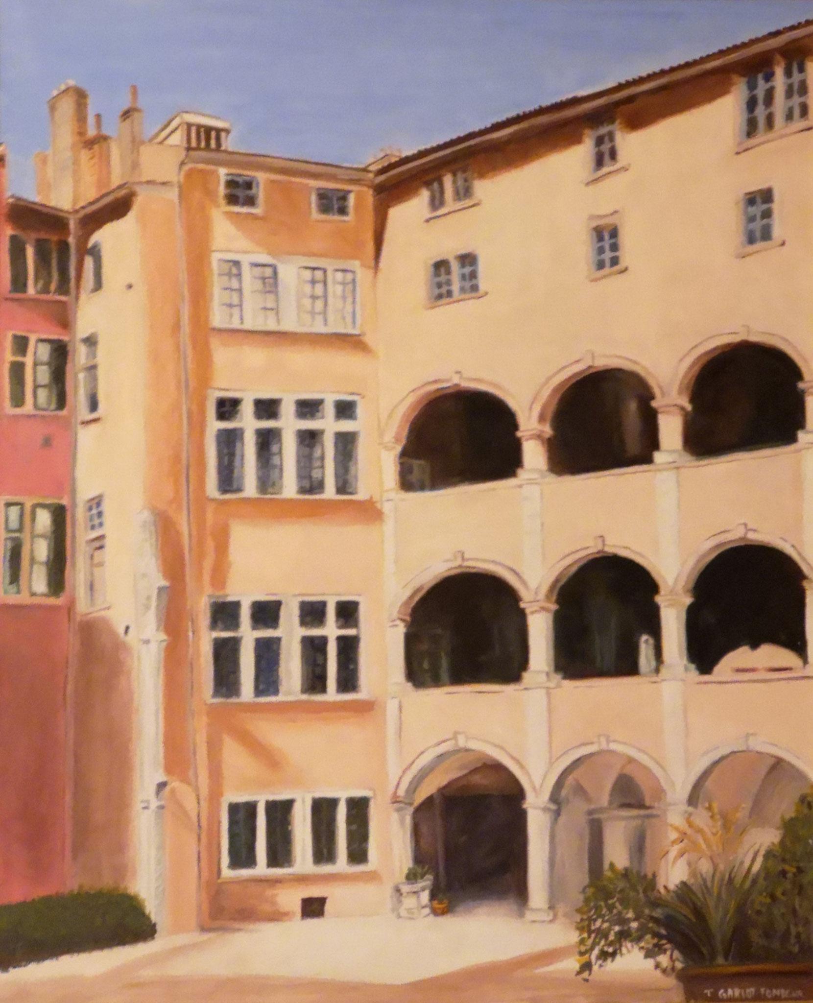 """"""" Vieux Lyon, la maison des Avocats"""" Thérèse FONDEUR"""