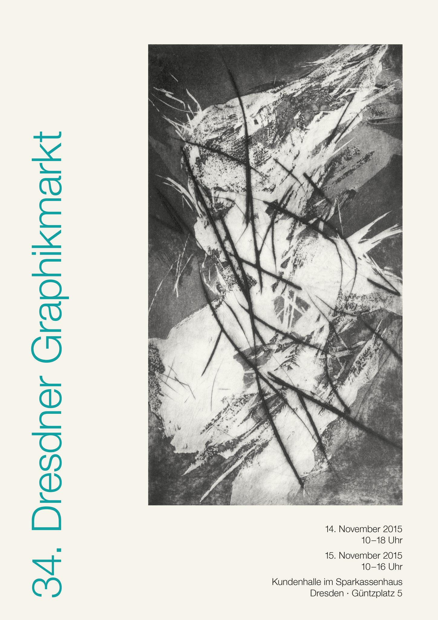 Plakat 34. Dresdner Graphikmarkt 2015, Kerstin Franke-Gneuß, Radierung