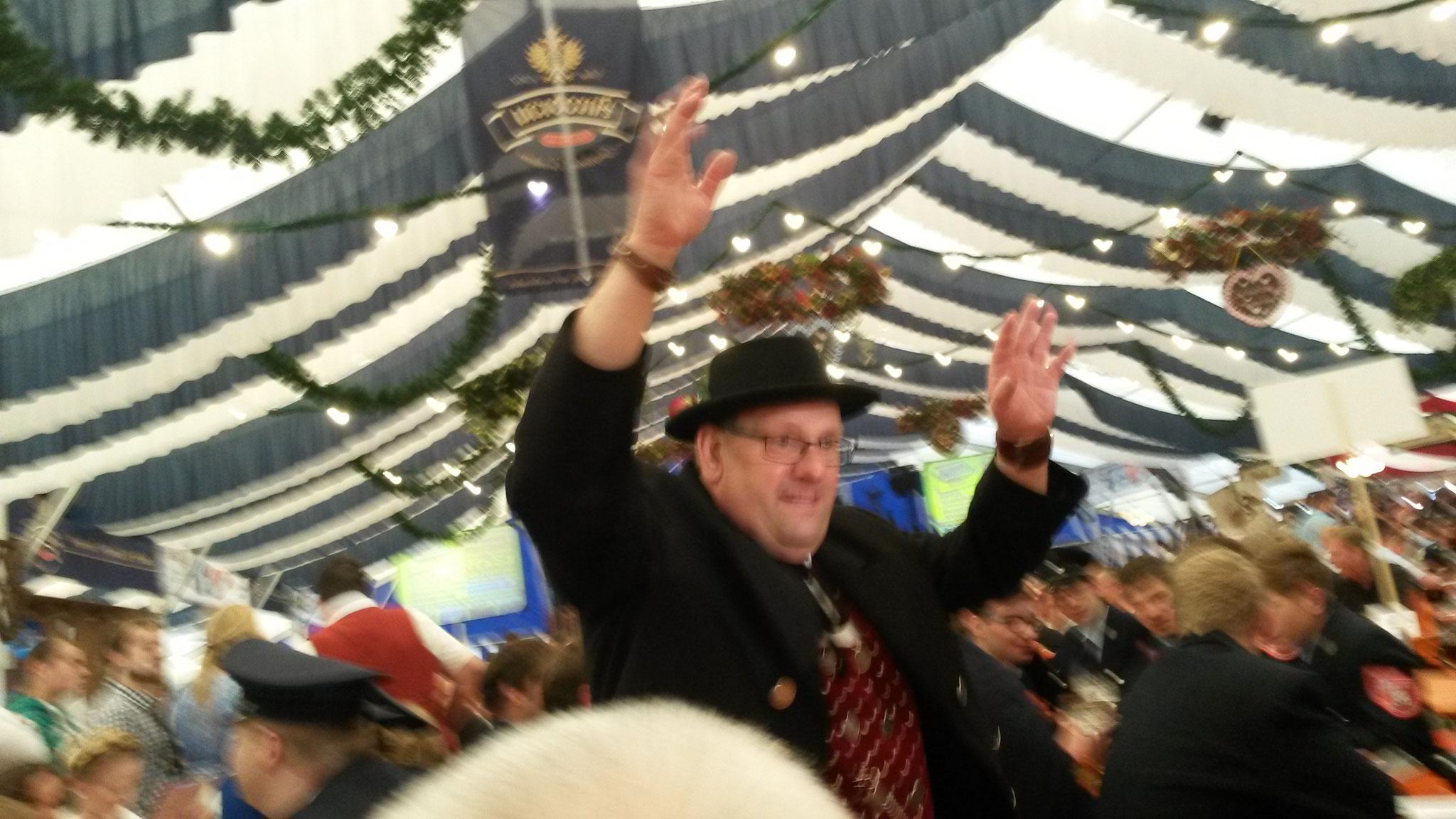 Hubert im Volksfest Plattling 2016