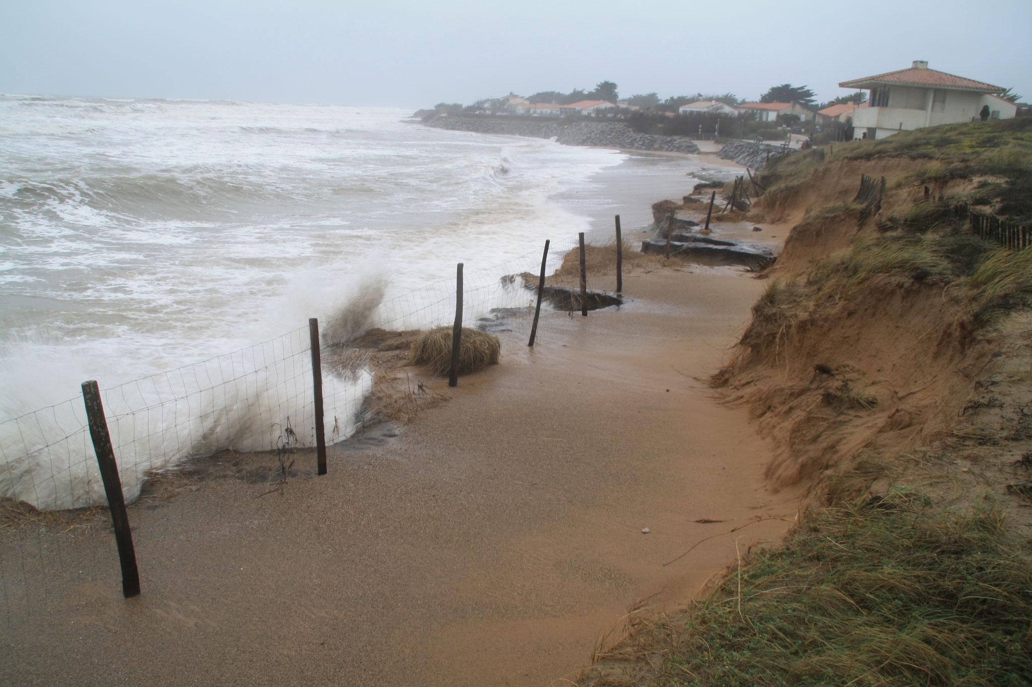 La Normandelière le 30 janvier 2021 pendant la tempête Justine