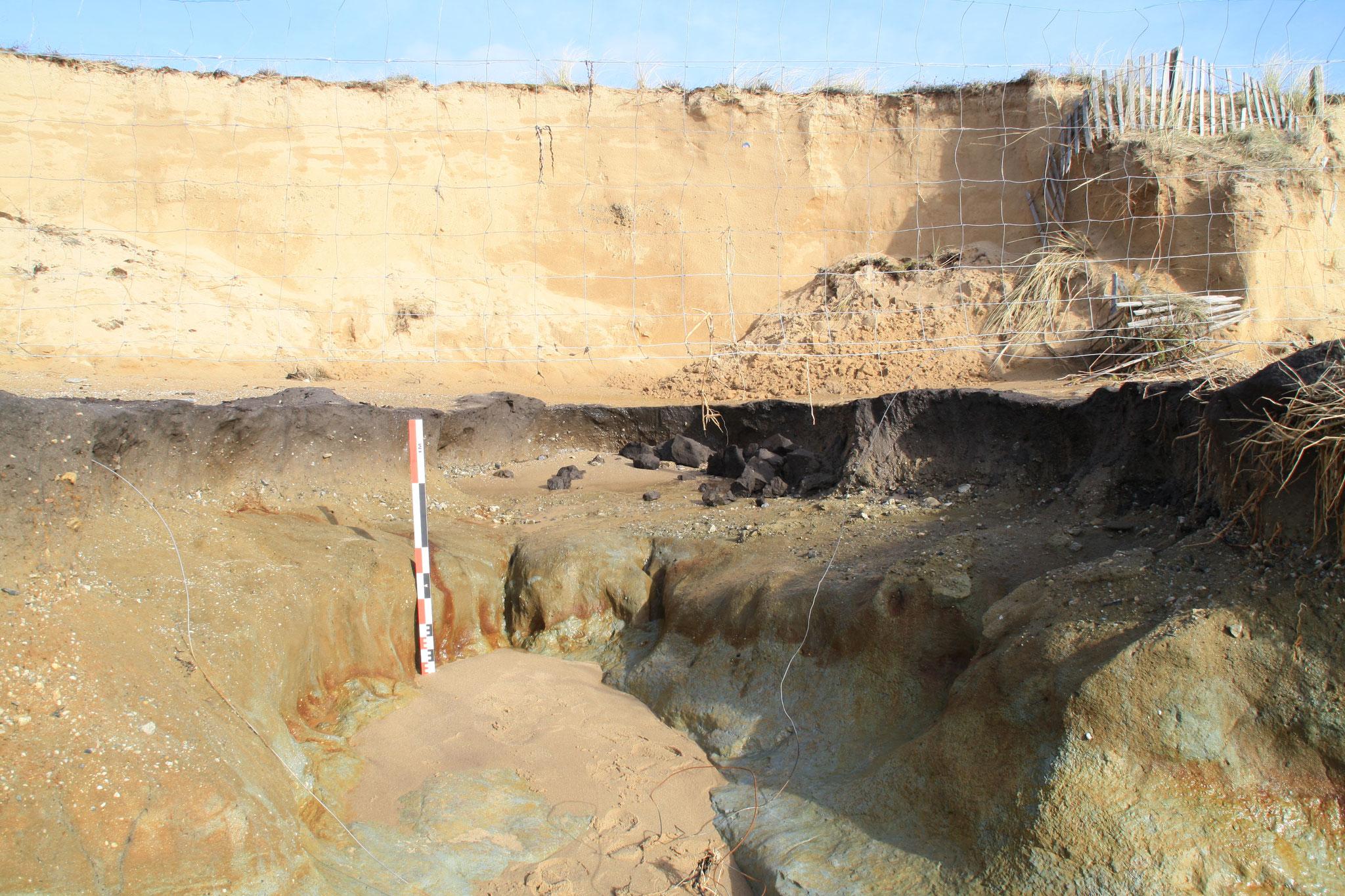 Effondrement de la dune de la Normandelière sur 3m de haut et 90m de long