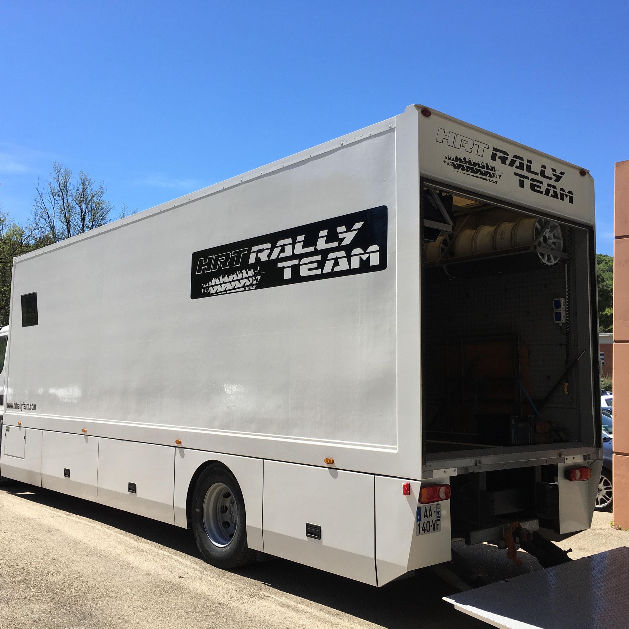 camion du team CMR SPORT GARAGE sur ALES