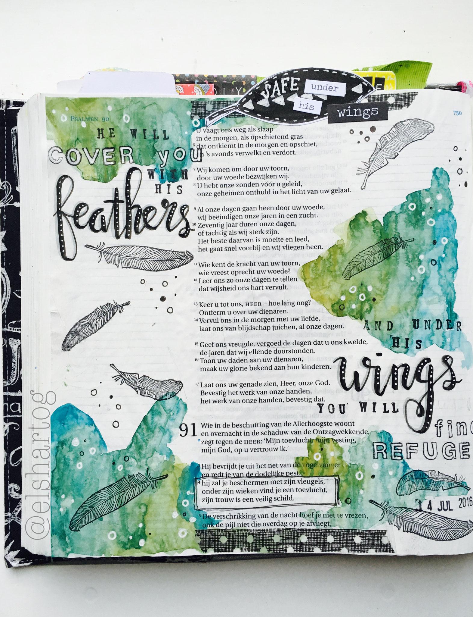 Psalm 91 | voorbeeld biblejournaling