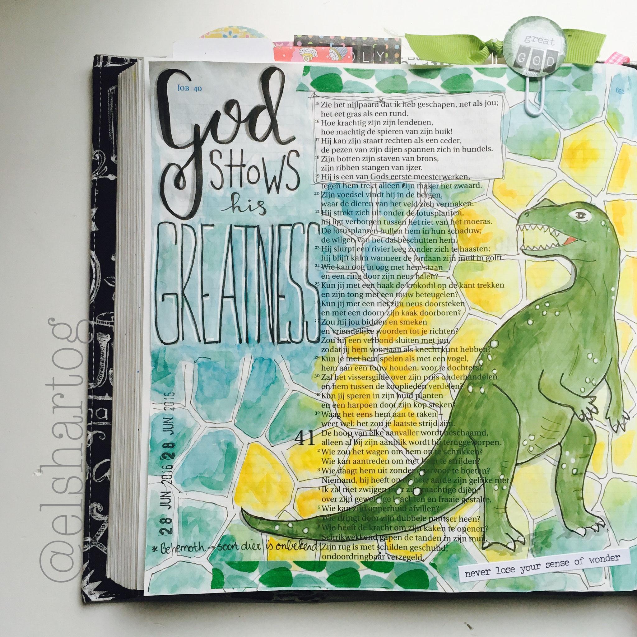 Job 40  | voorbeeld biblejournaling