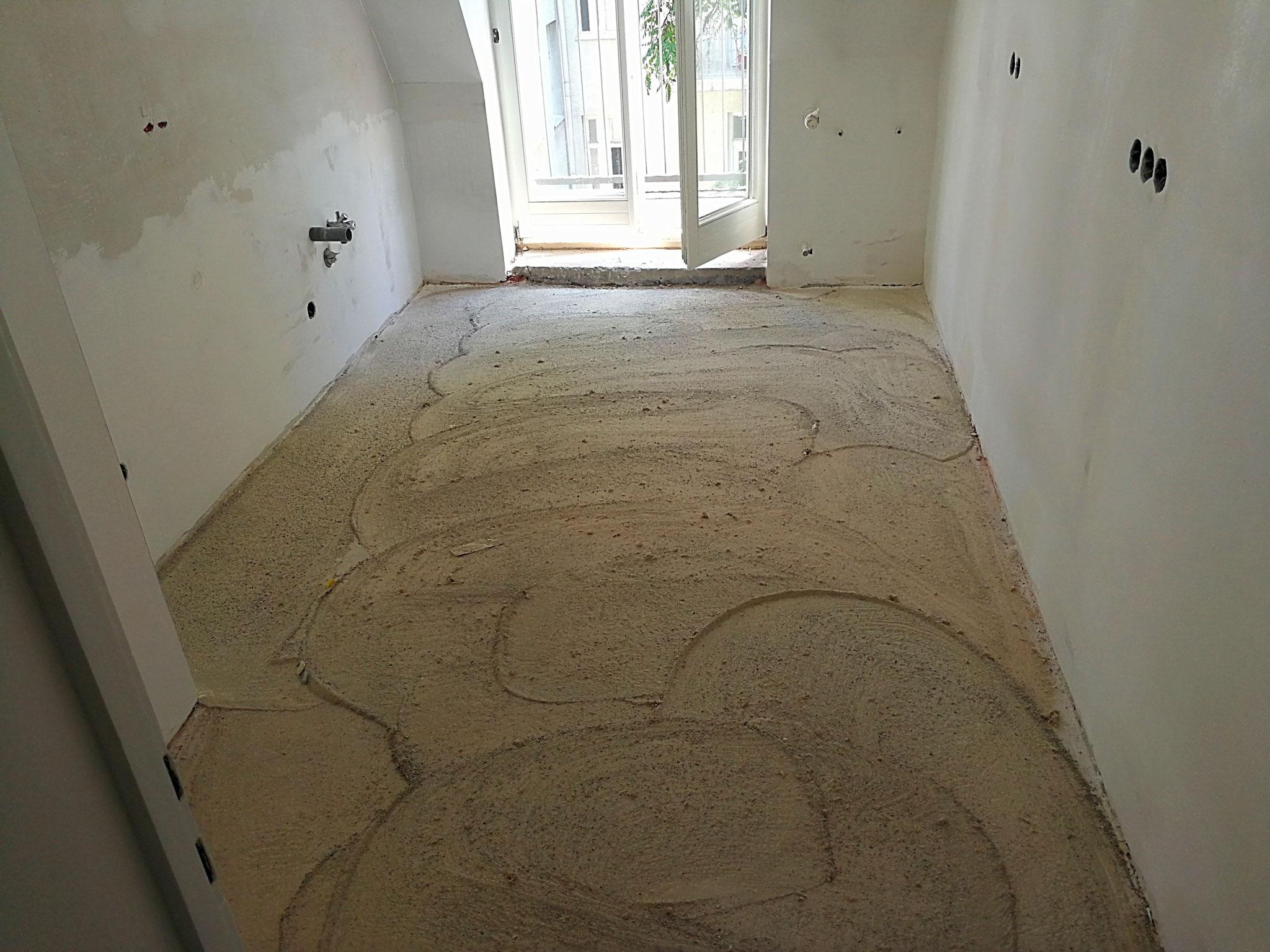 Küche Boden geschliffen