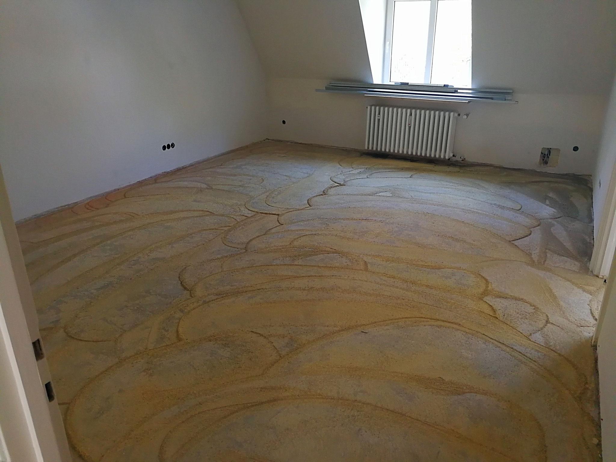 Wohnzimmer Boden geschliffen