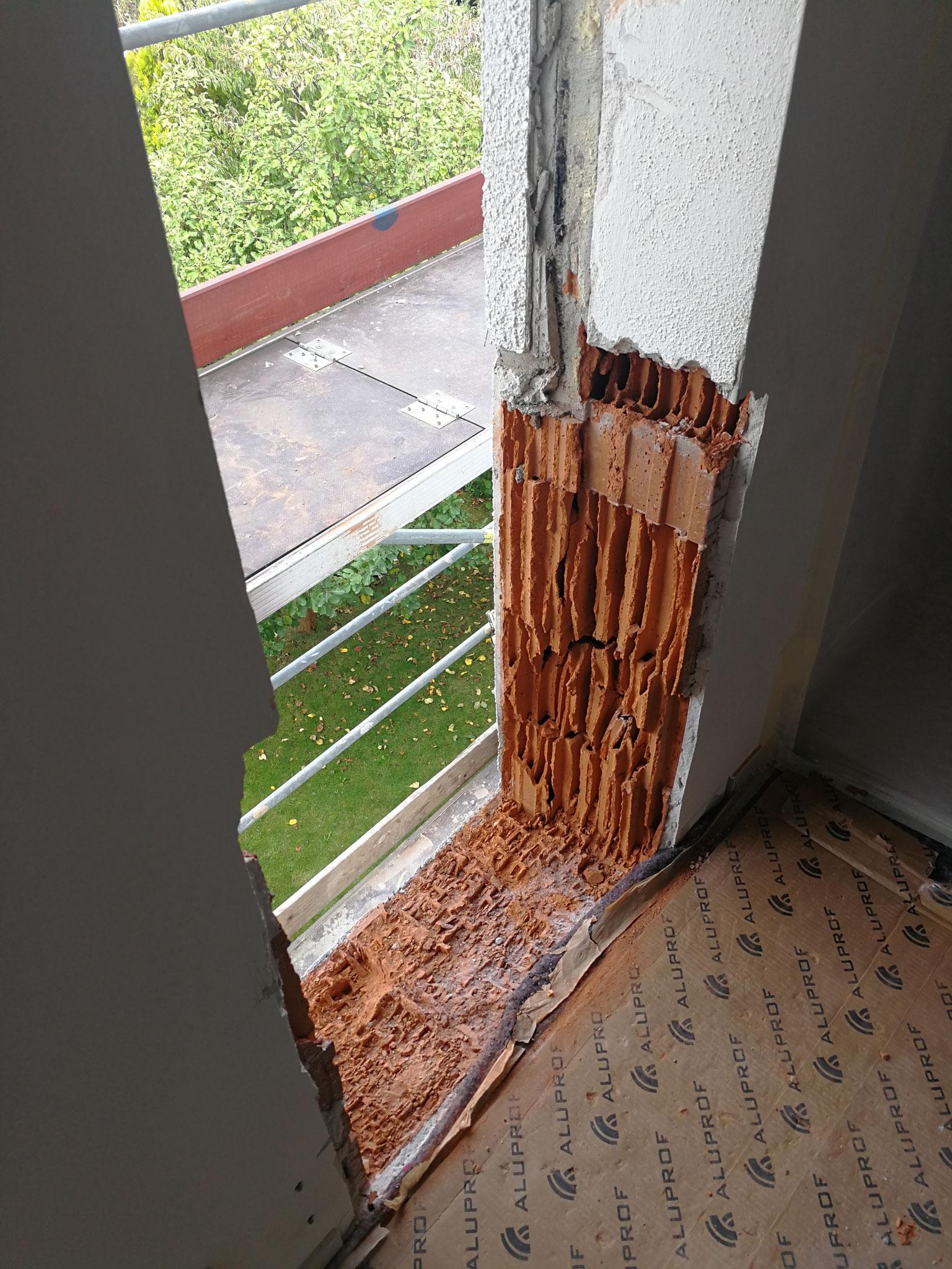 Erweiterung Fenster bodentief