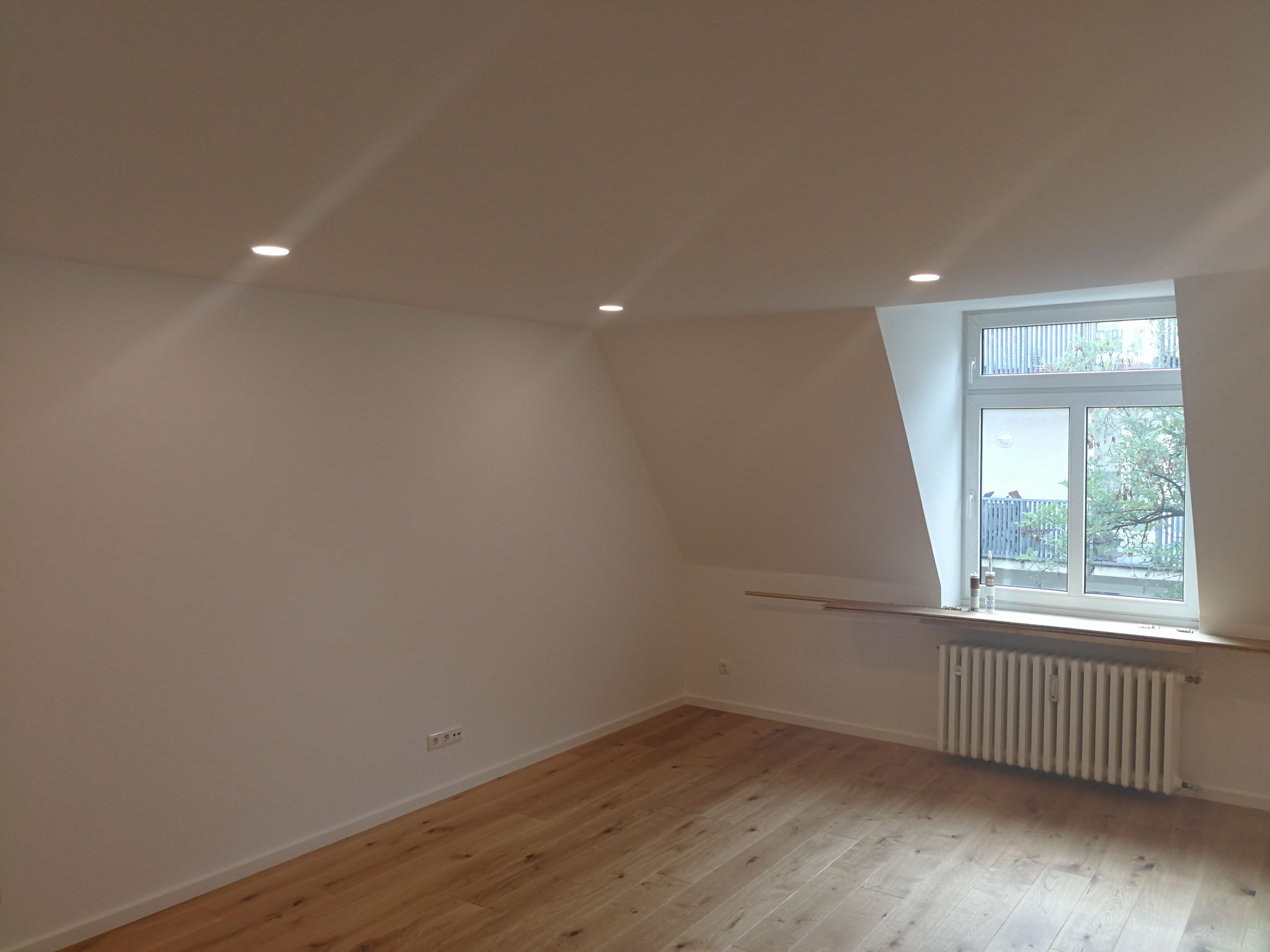 Fertigstellung Wohnzimmer