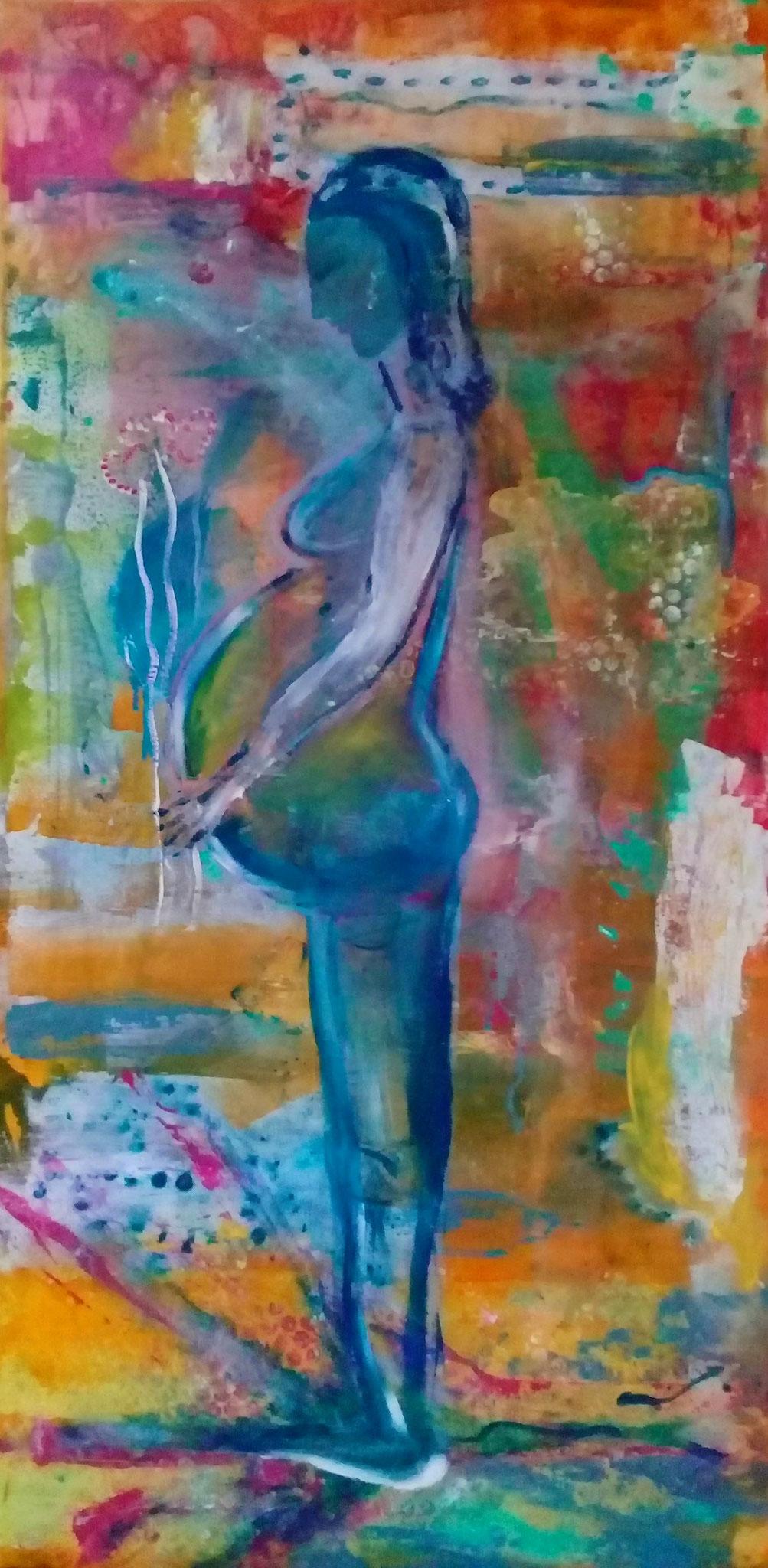 """Jnja & Tamino"", 2018, 70x50 cm, acrylic on canvas, alexandra benesch"