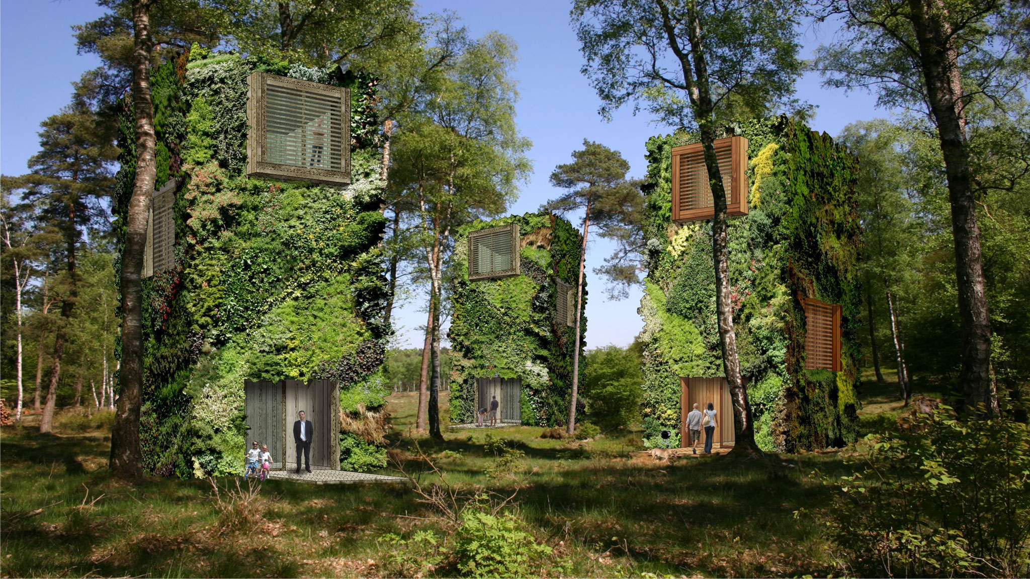Visual OAS1S™: Unique communities designed as forests.