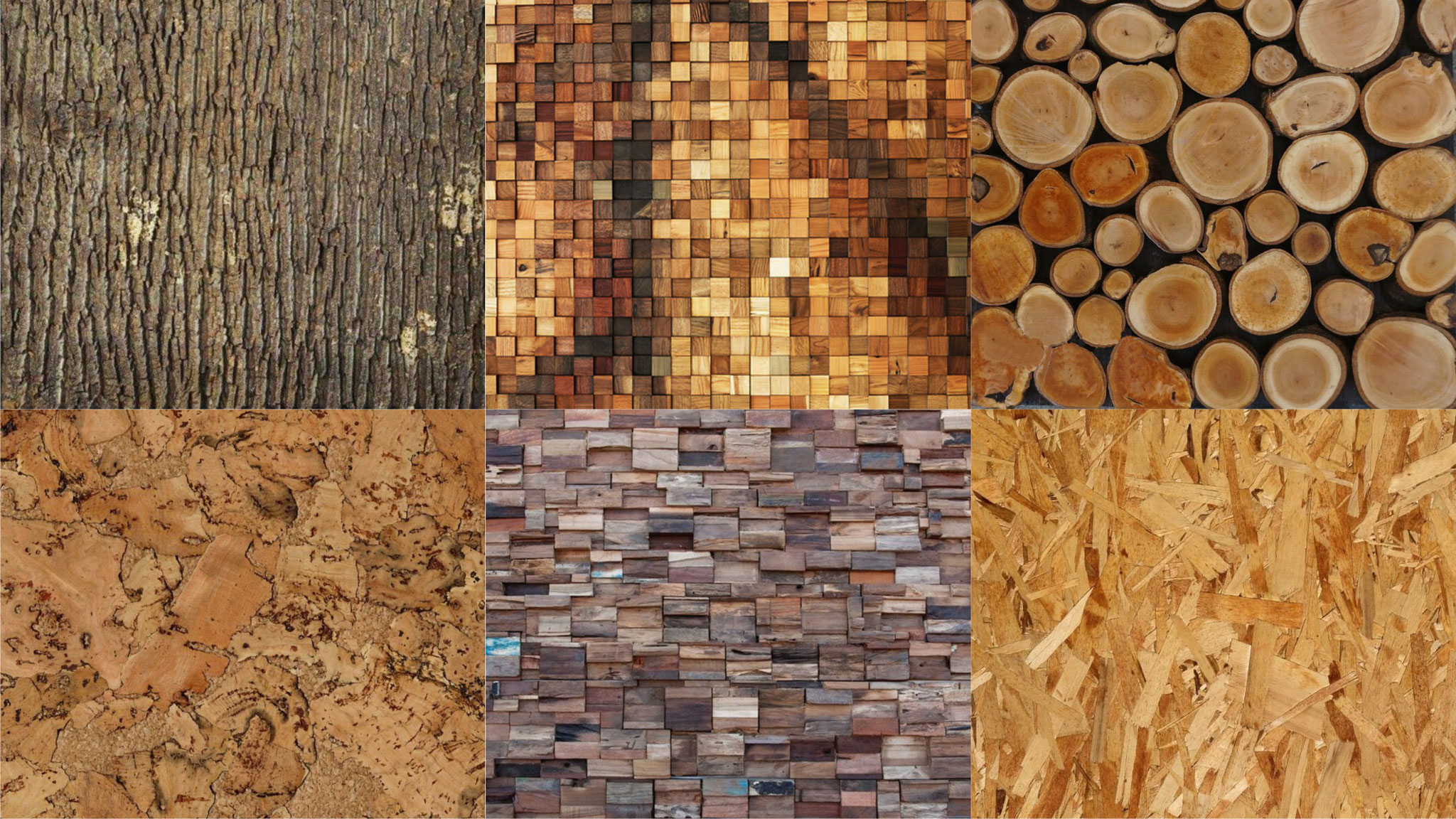 References OAS1S™: Diverse optional rustic reclaimed wooden interior wall finishing textures.
