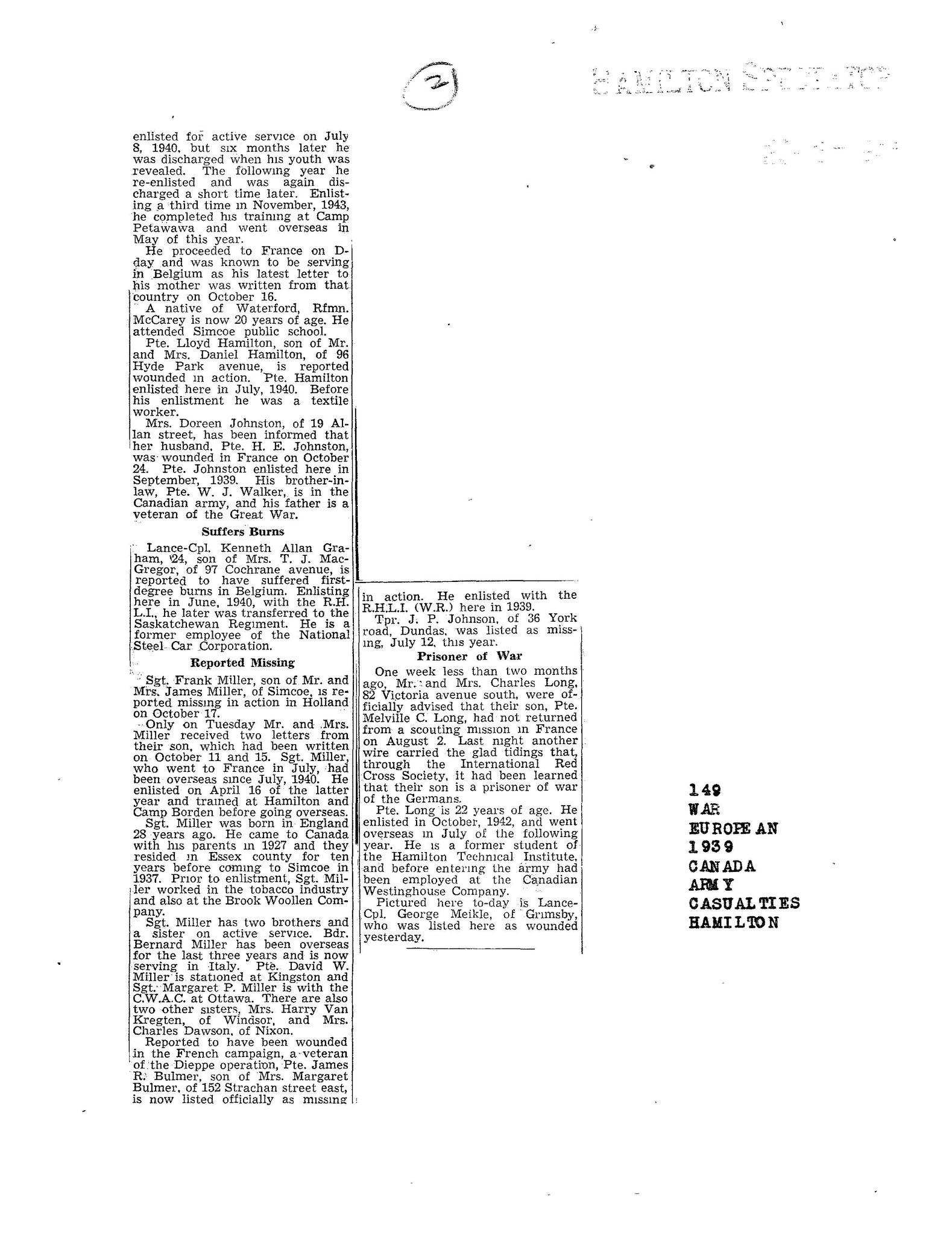 Hamilton Spectator 2-11-1944