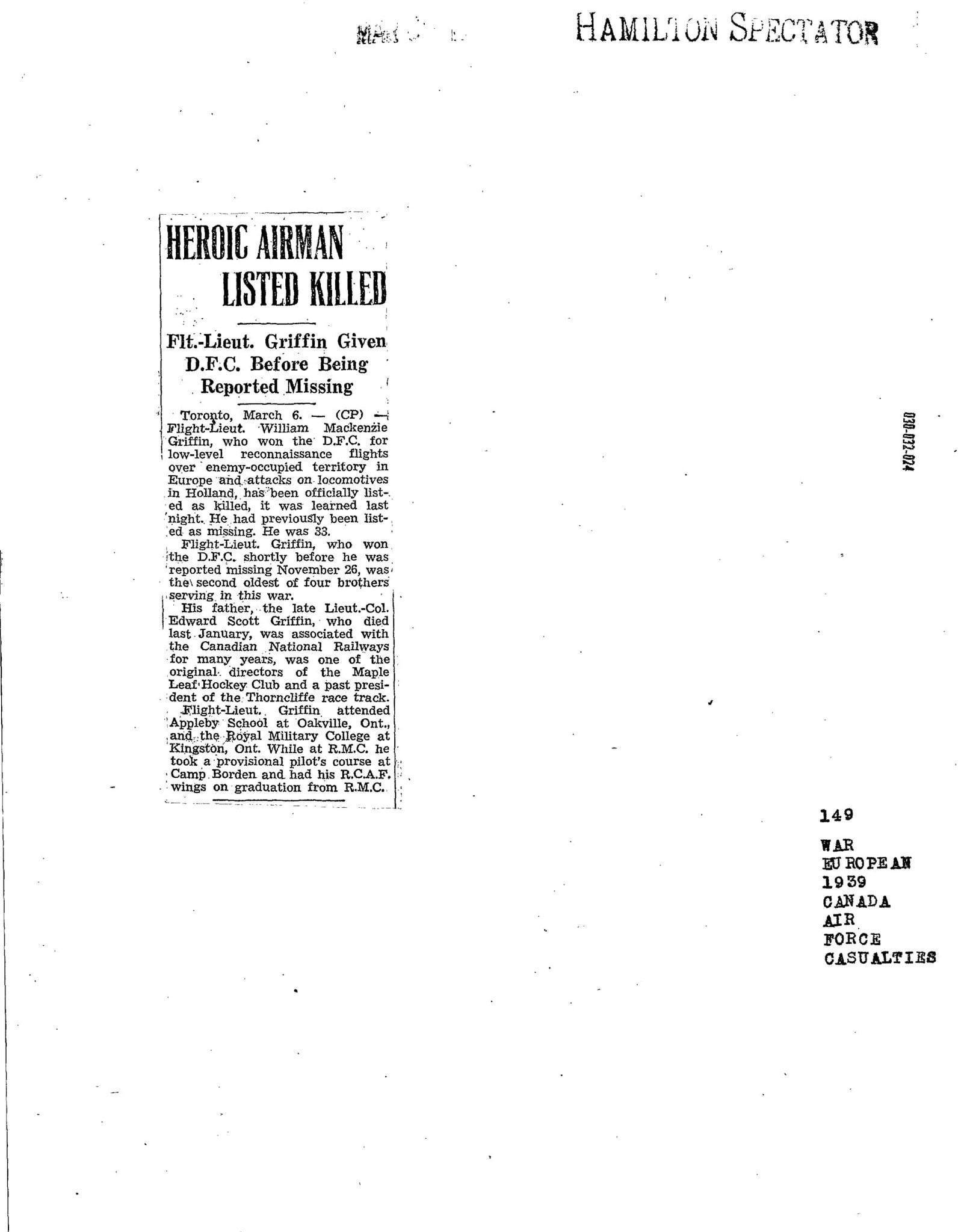 Hamlton Spectator 6-3-1943