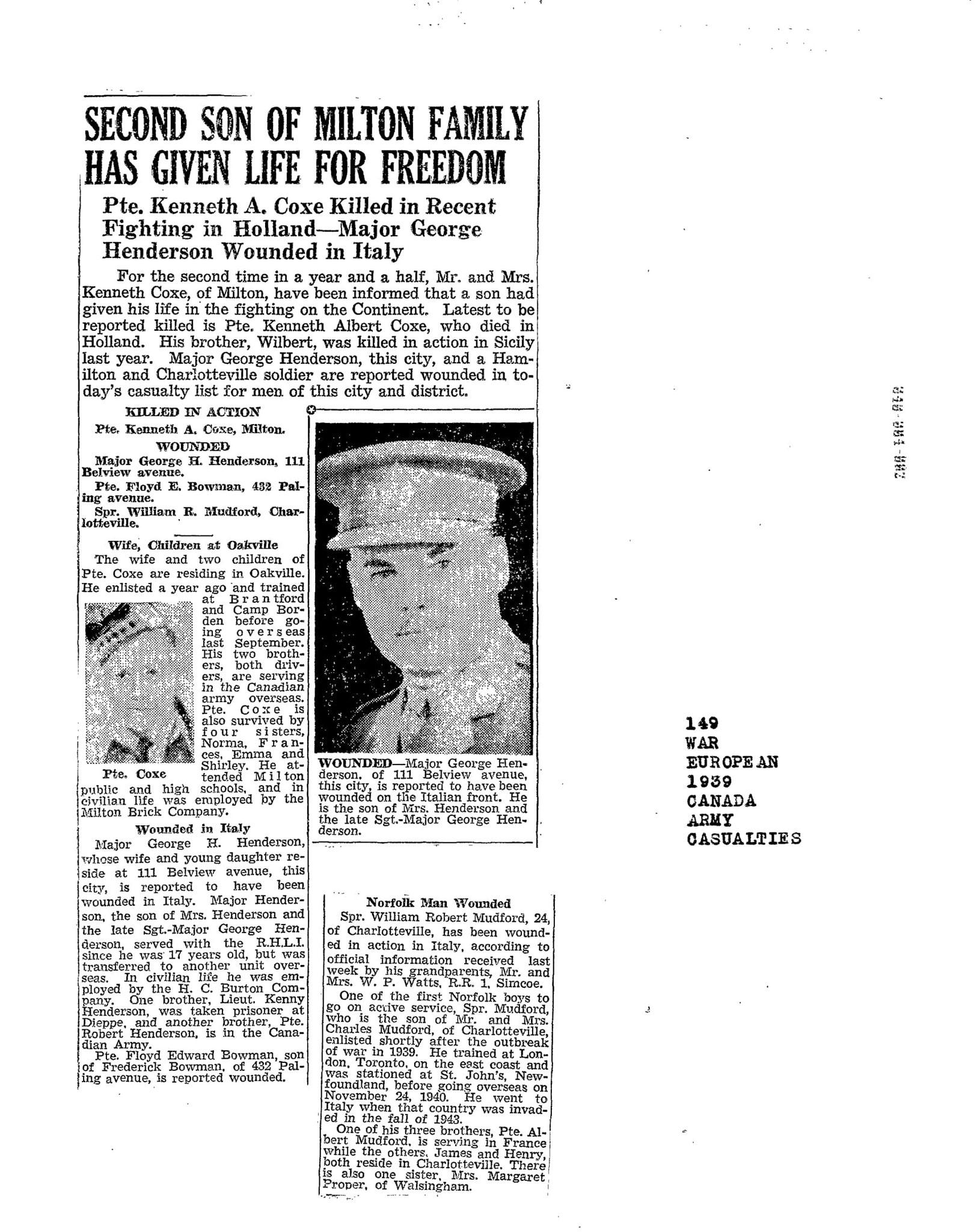 Hamilton Spectator 28-12-1944